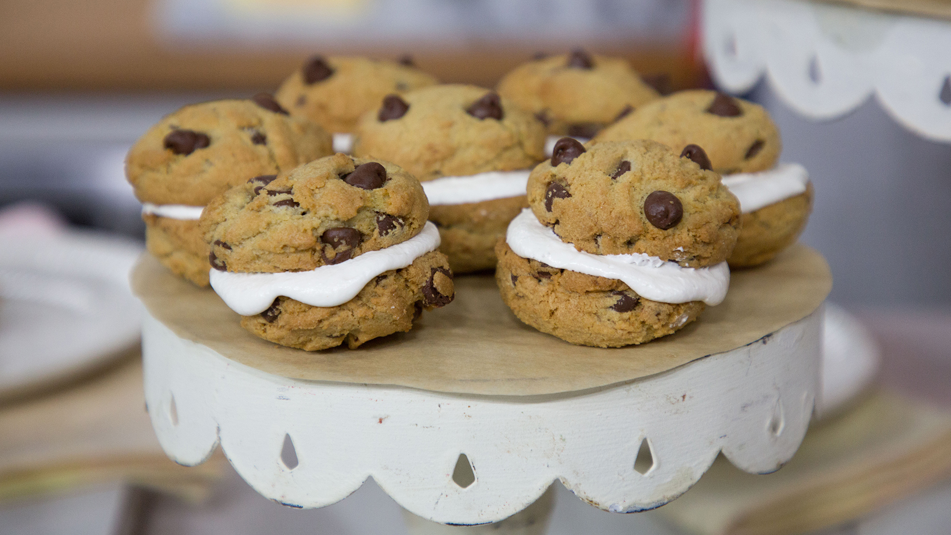 chocolate chip cookie whoopie pies - today