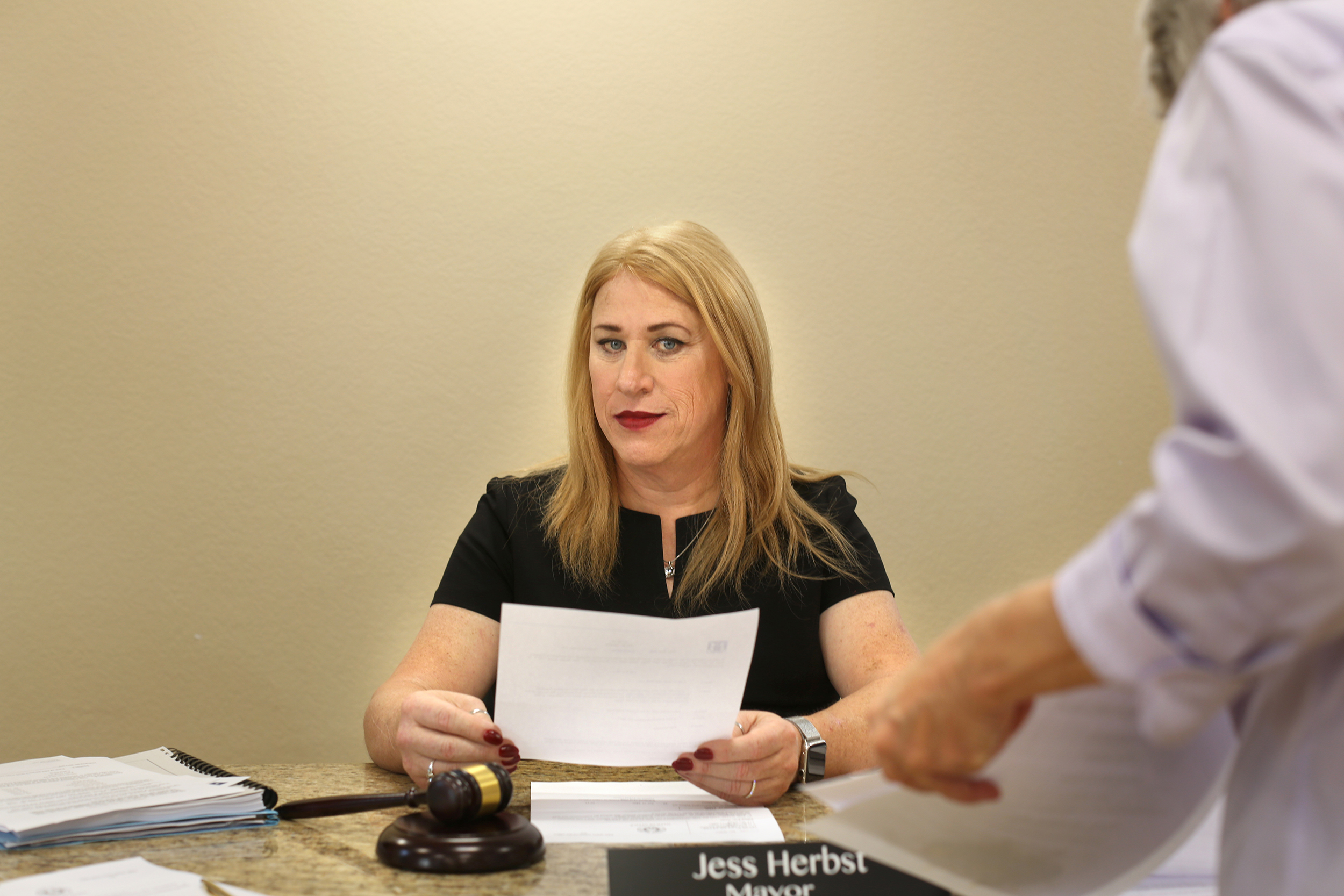 Jess Herbst, first openly transgender mayor in Texas, is voted out