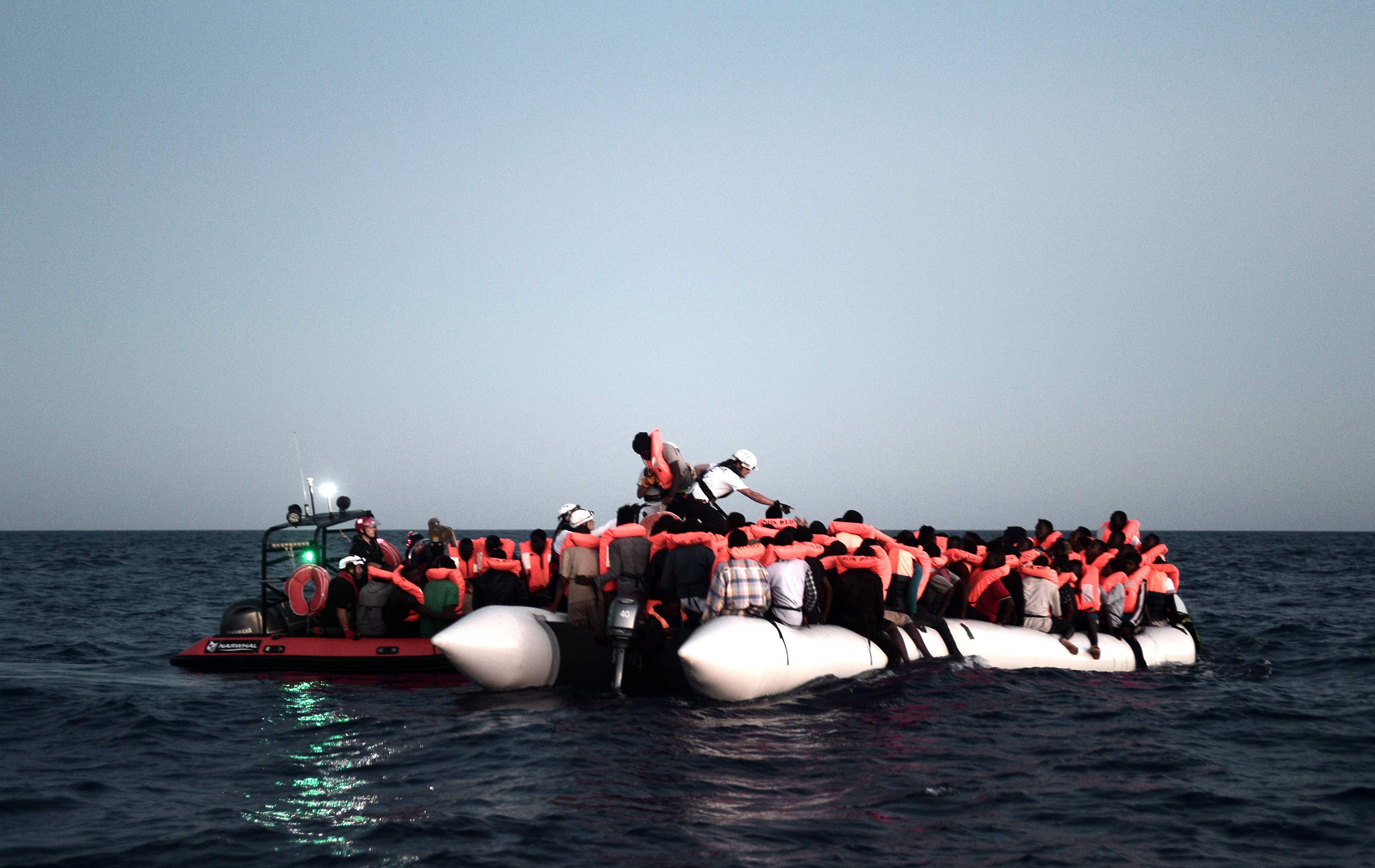 Ship-carrying-hundreds-of-rescued-migrants-barred-entry-by-Italy,-Malta