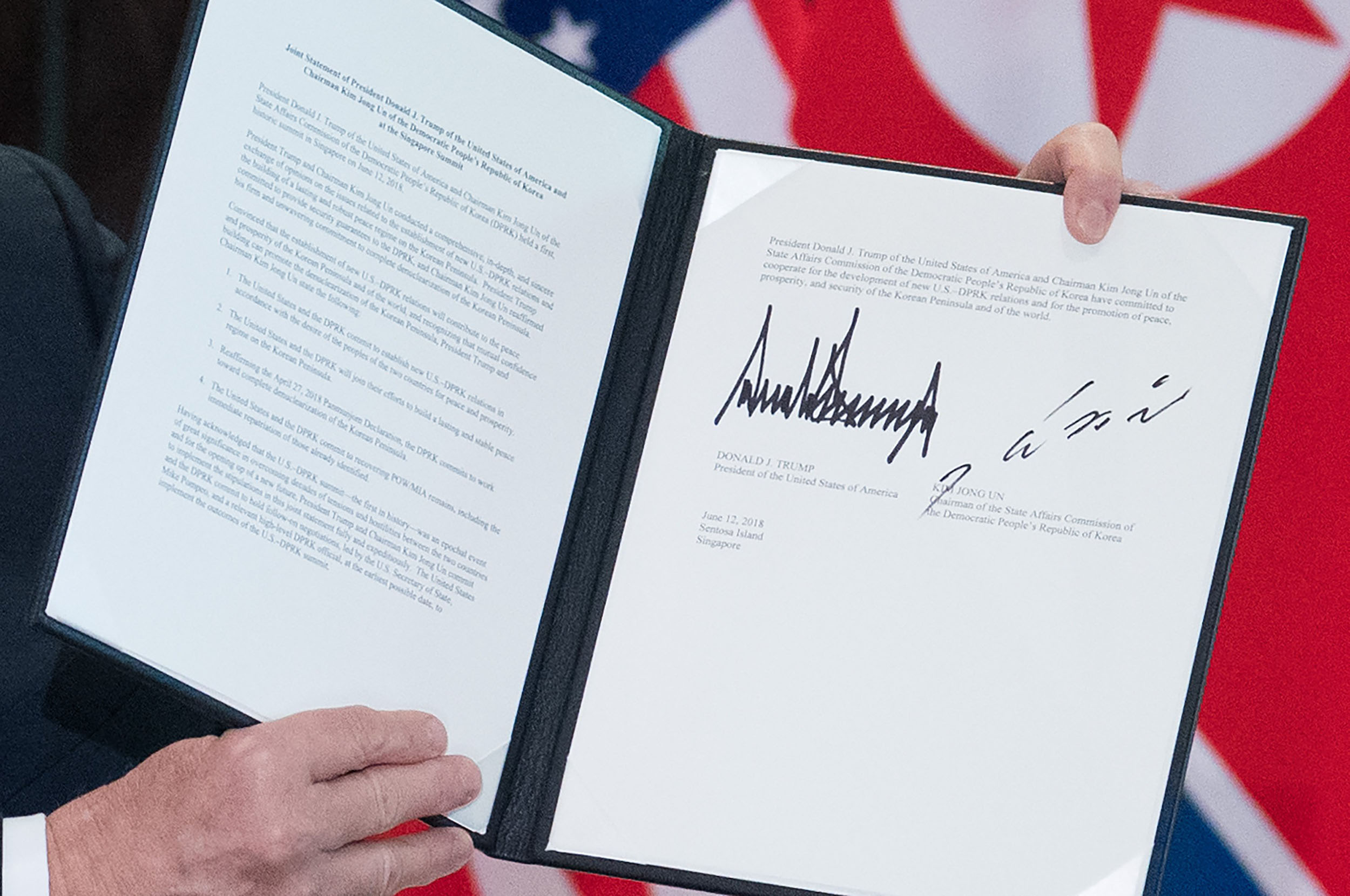 Full Text Of The Us North Korea Agreement Signed By Trump Kim
