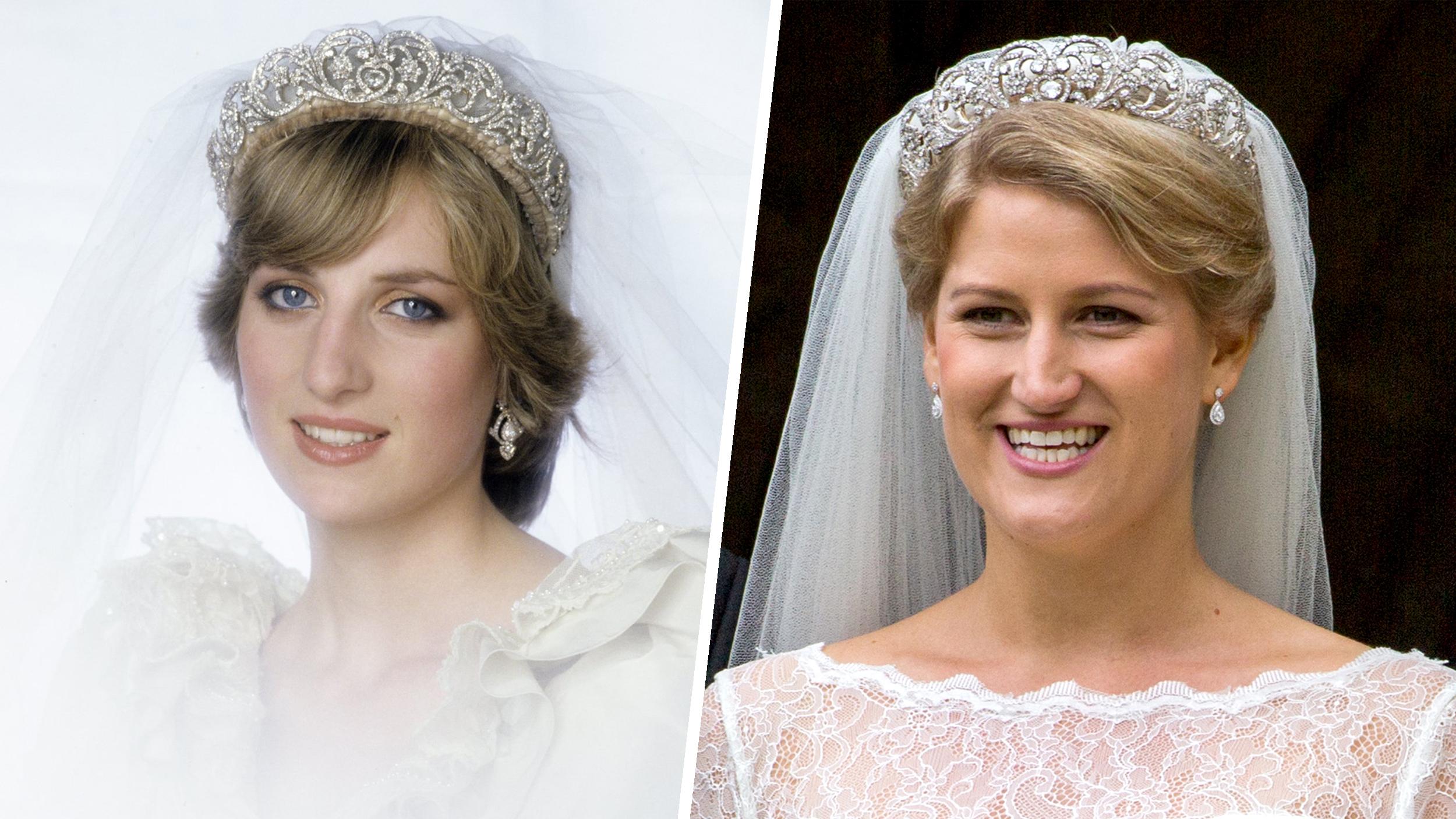 Princess Diana S Niece Celia Mccorquodale Dons Spencer Tiara
