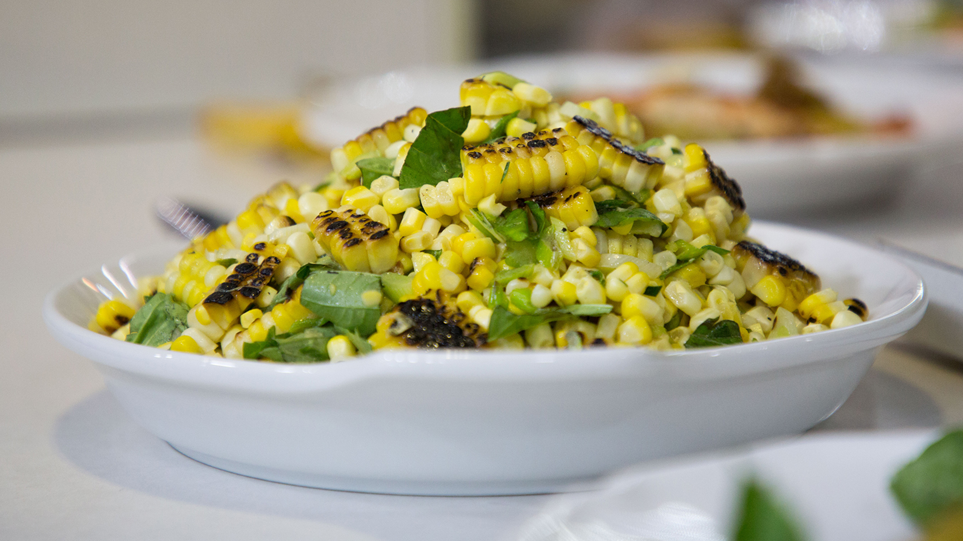 Make the most of sweet summer corn with this easy grilled veggie salad