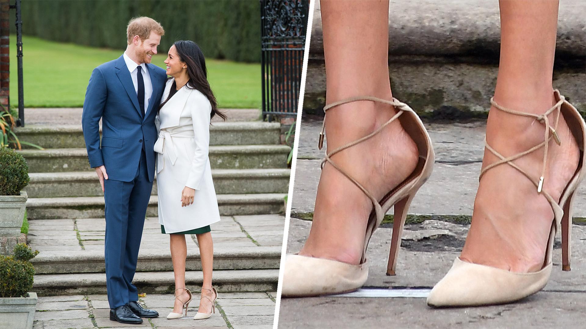 Meghan Markle wear oversized shoes