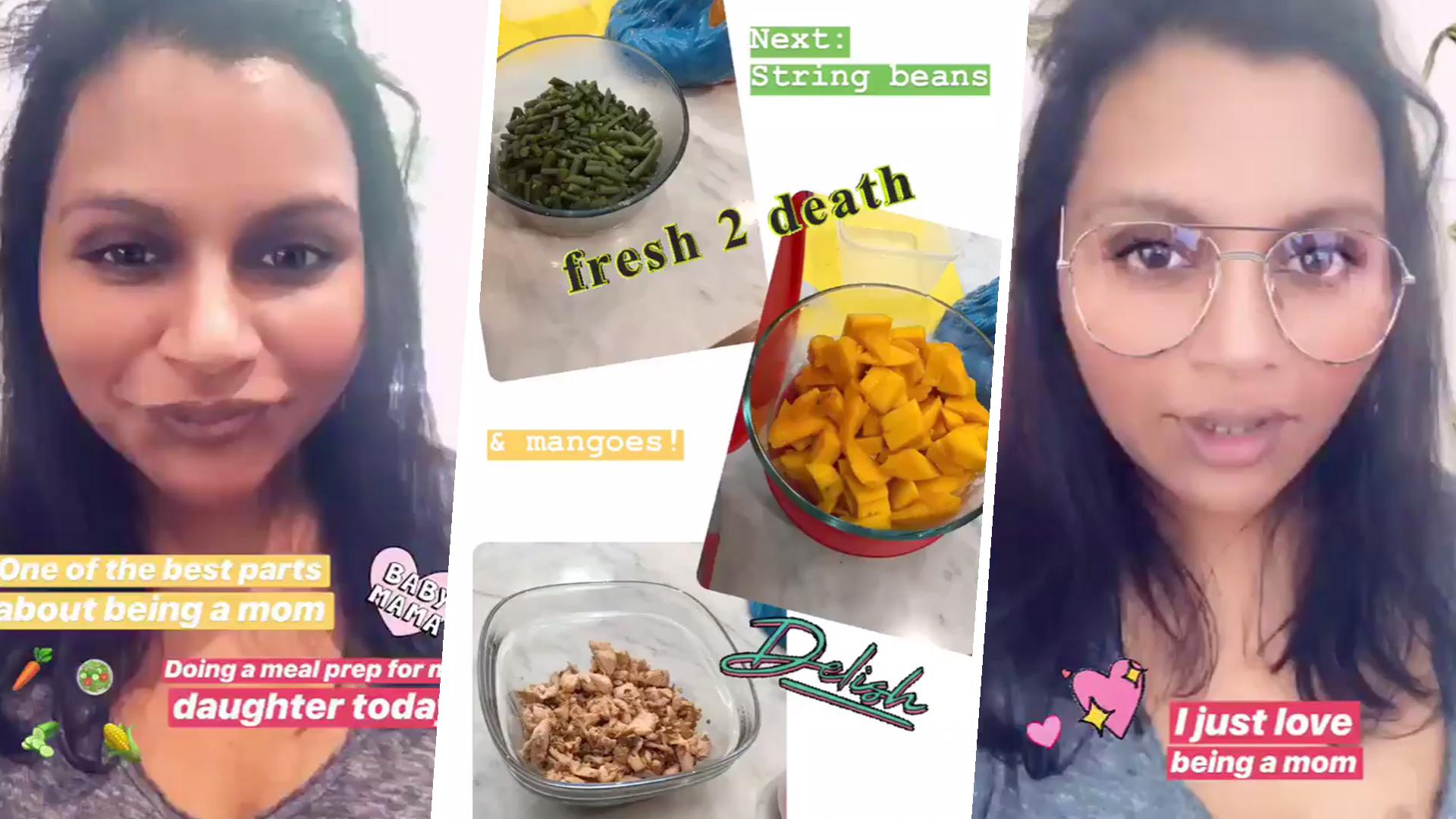 Mindy Kaling Enjoys Making Homemade Baby Food