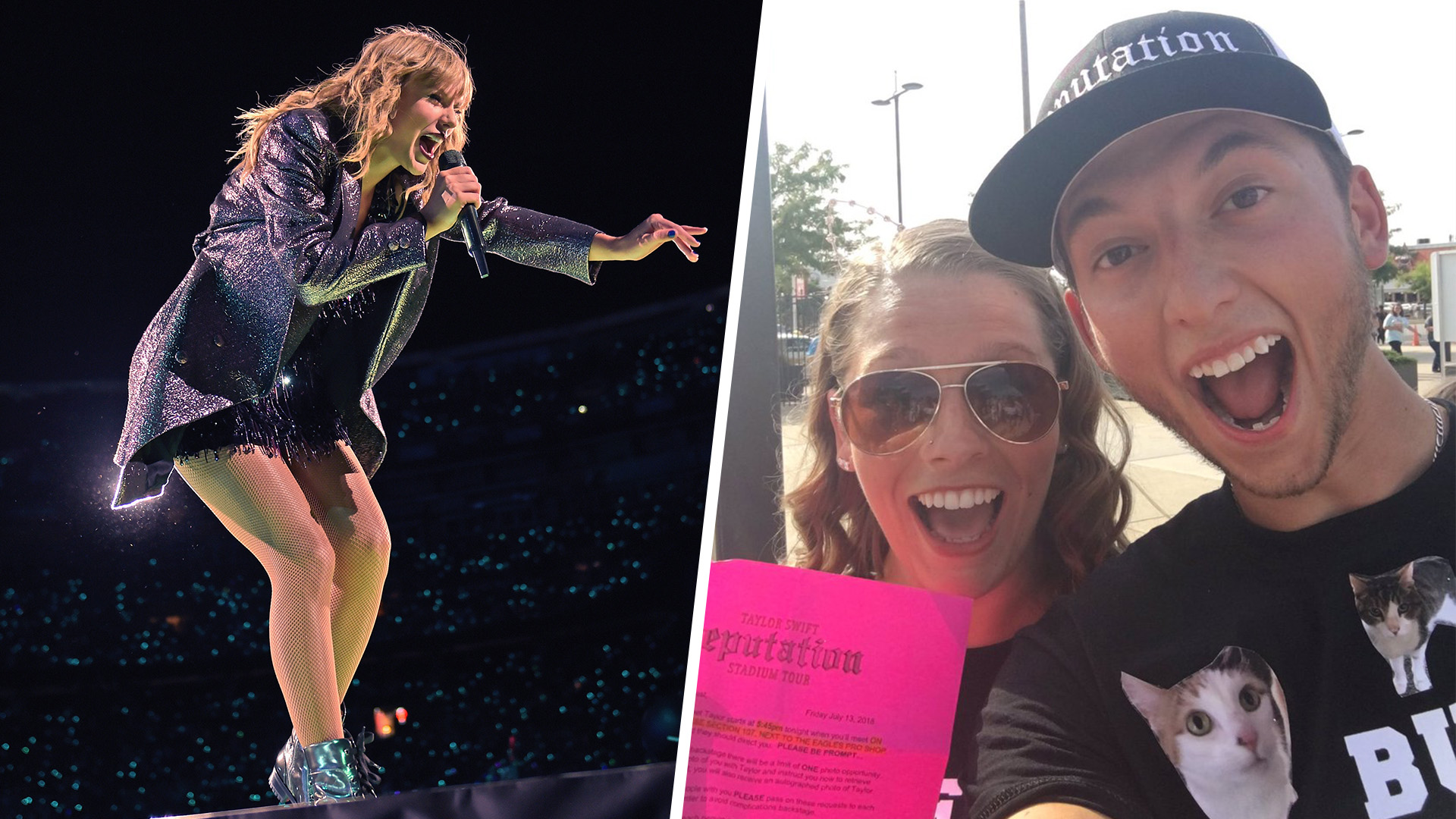 This couple got engaged in front of taylor swift and her this couple got engaged in front of taylor swift and her reaction was amazing m4hsunfo