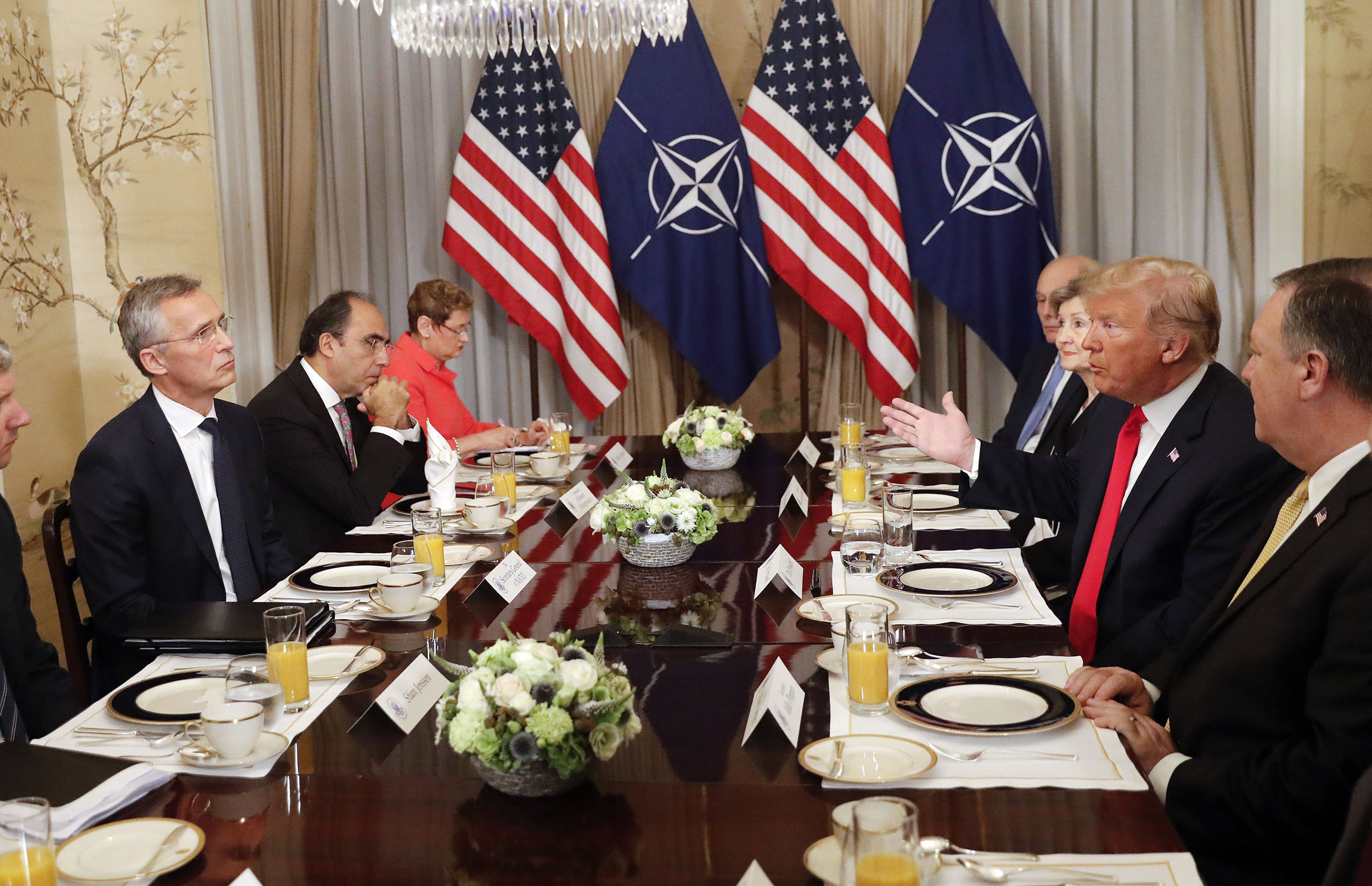 Trump-blasts-allies,-says-Germany-is-'a-captive-of-Russia'-in-testy-start-to-NATO-summit