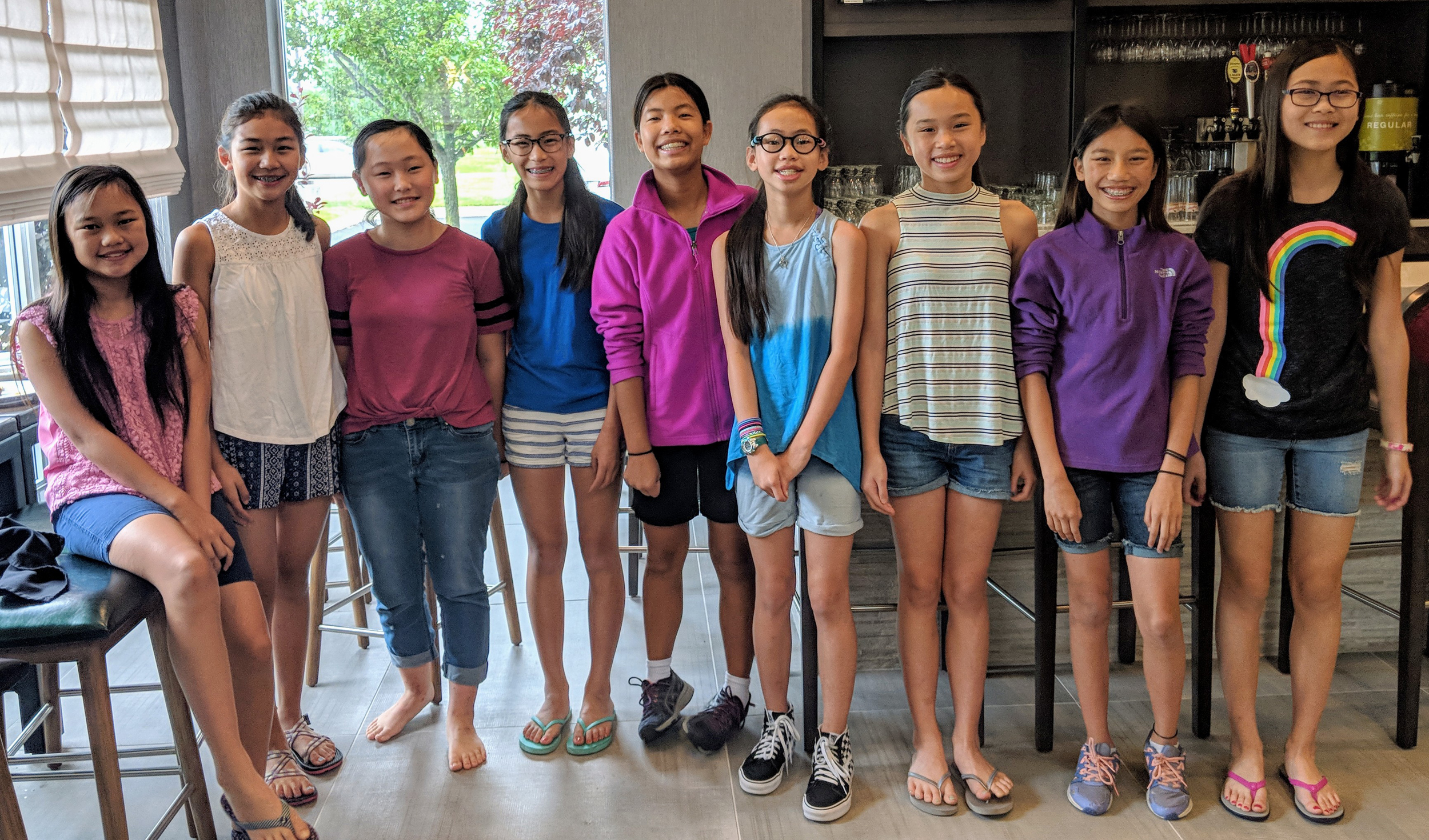 Nine girls adopted from same Chinese orphanage reunite annually