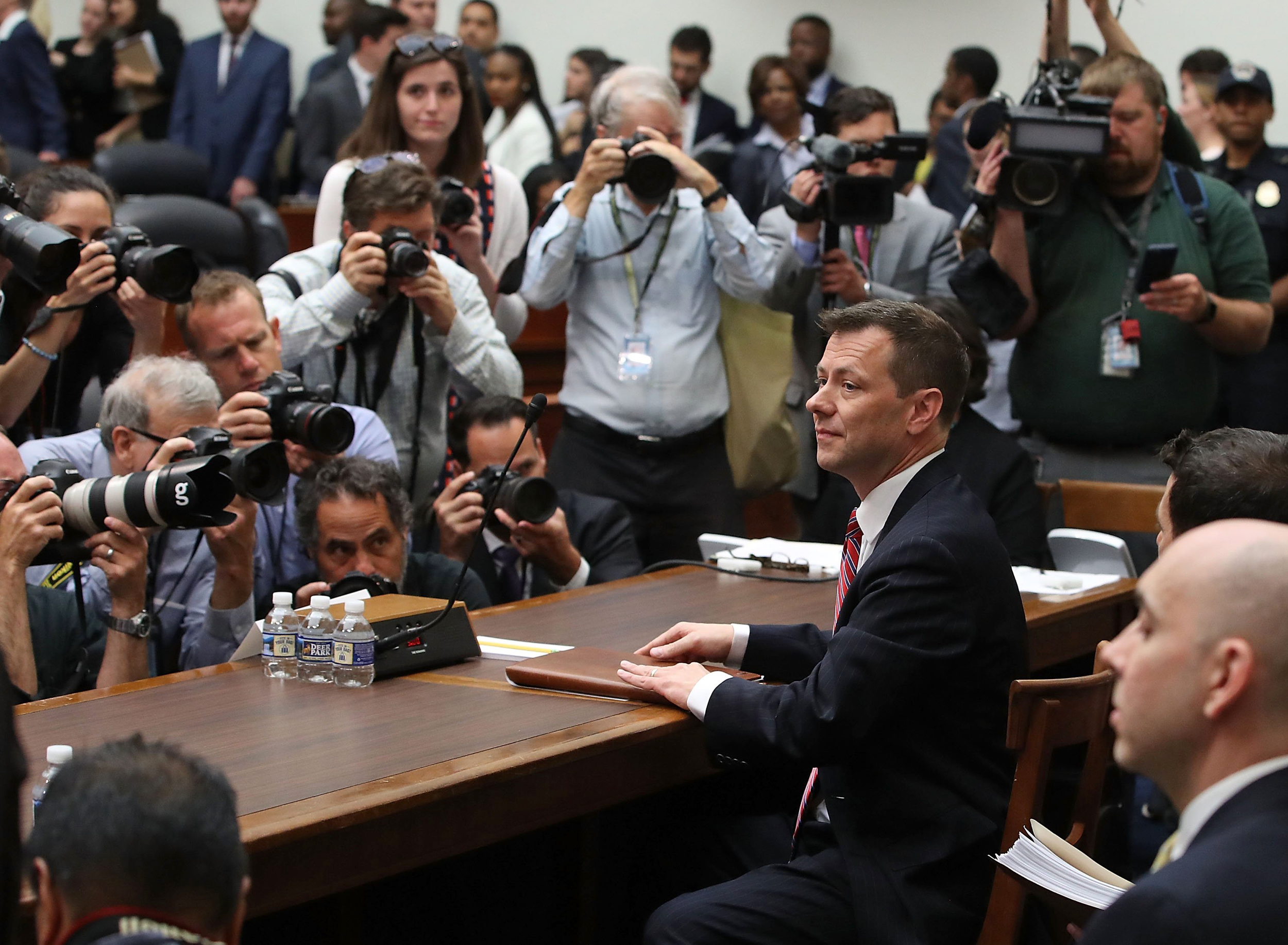 Image result for photos of House Oversight Committee on Thursday, Strzok