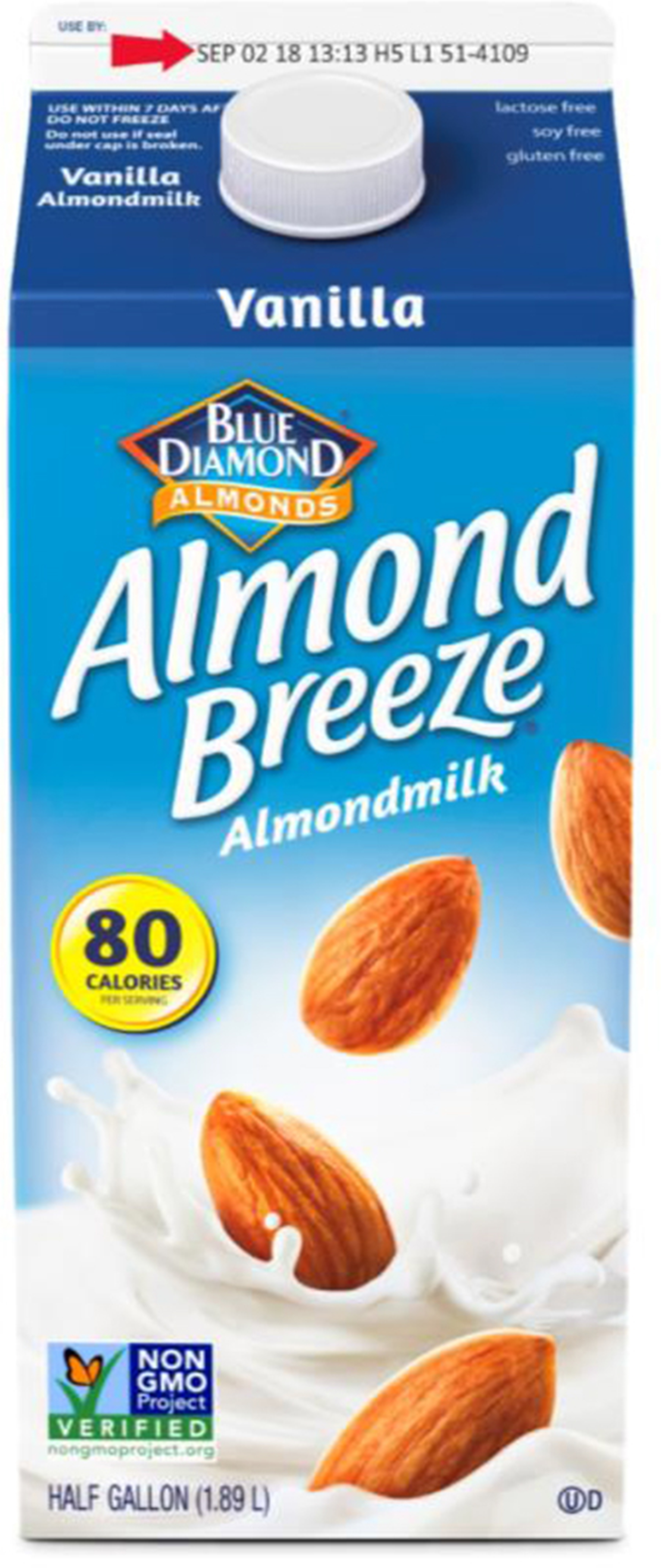 Almond milk recalled because it might have actual milk in it