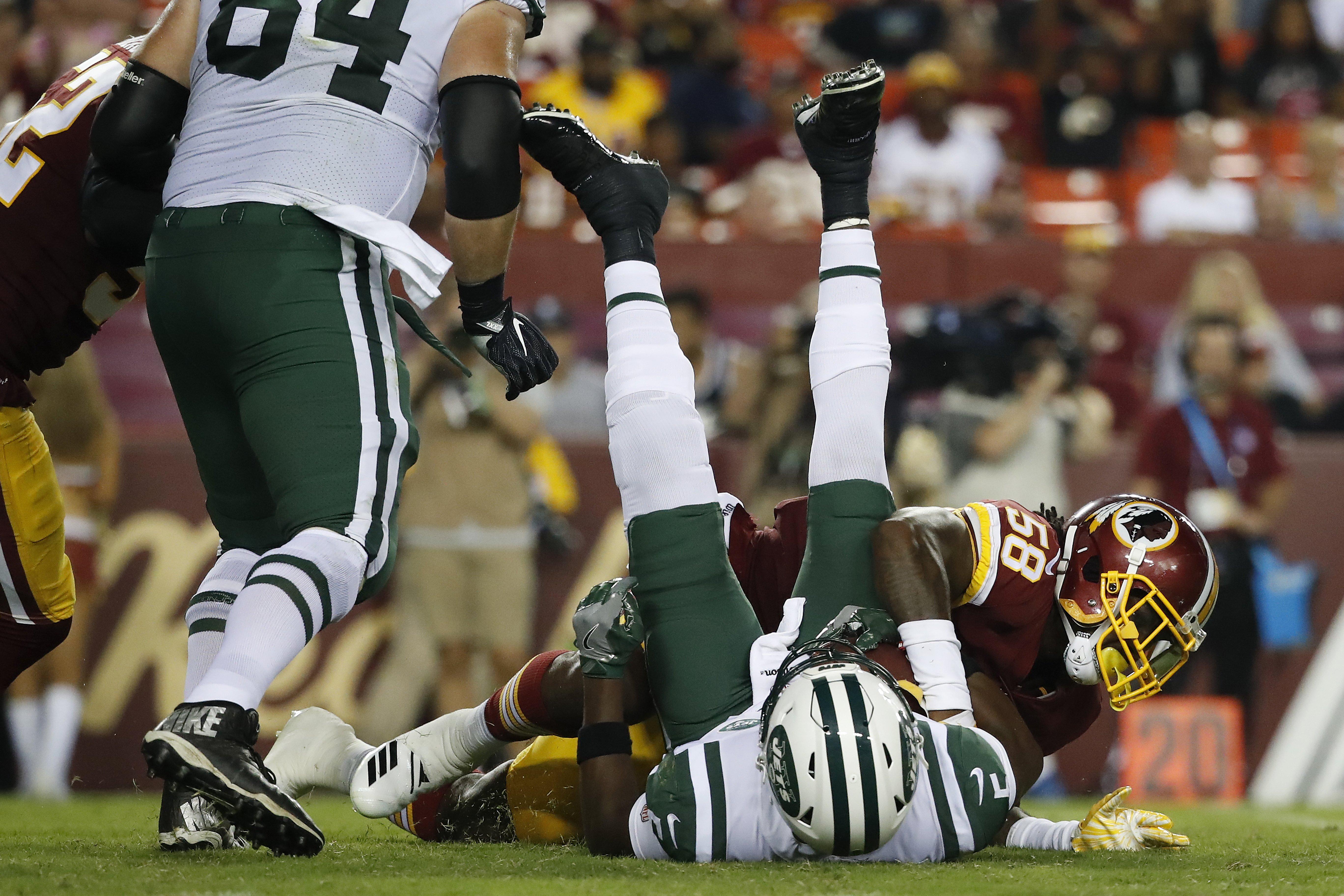 Why Jets QB Teddy Bridgewater was happy to take a hit against Washington