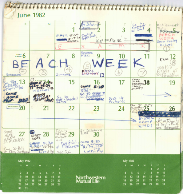 see brett kavanaughs 1982 summer calendar the time of christine blasey fords assault accusation