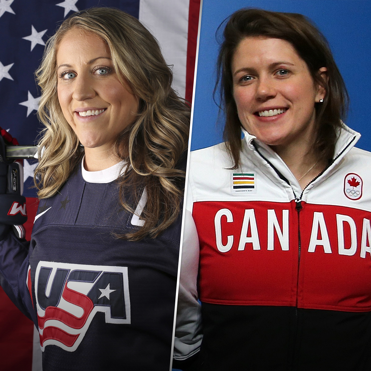 Puck'er up: U S  women's hockey star marries her former Canadian rival
