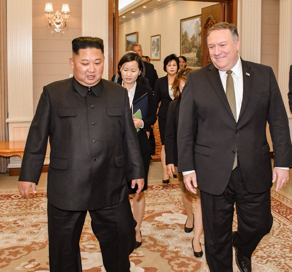 After meeting Kim, Pompeo hails 'progress' in nuclear talks