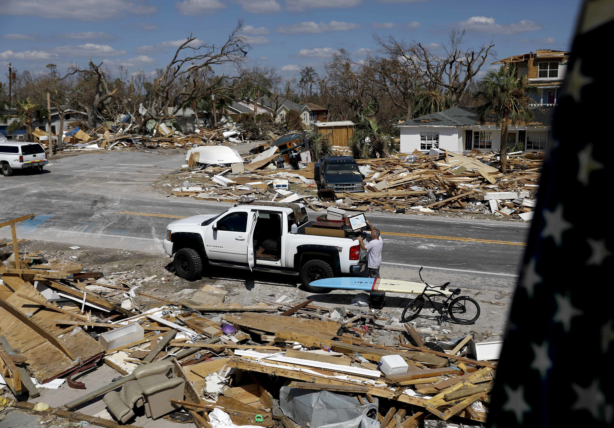 Hurricane survivors band together after entire Florida towns flattened