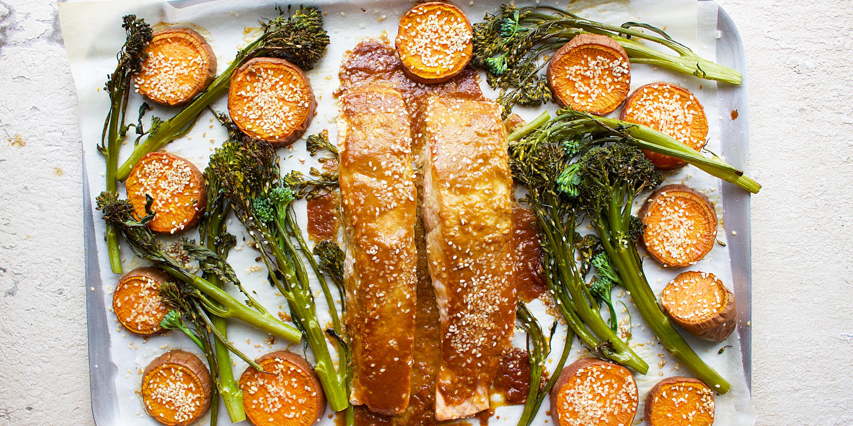 Sheet-pan teriyaki salmon is the solution to weeknight dinner woes