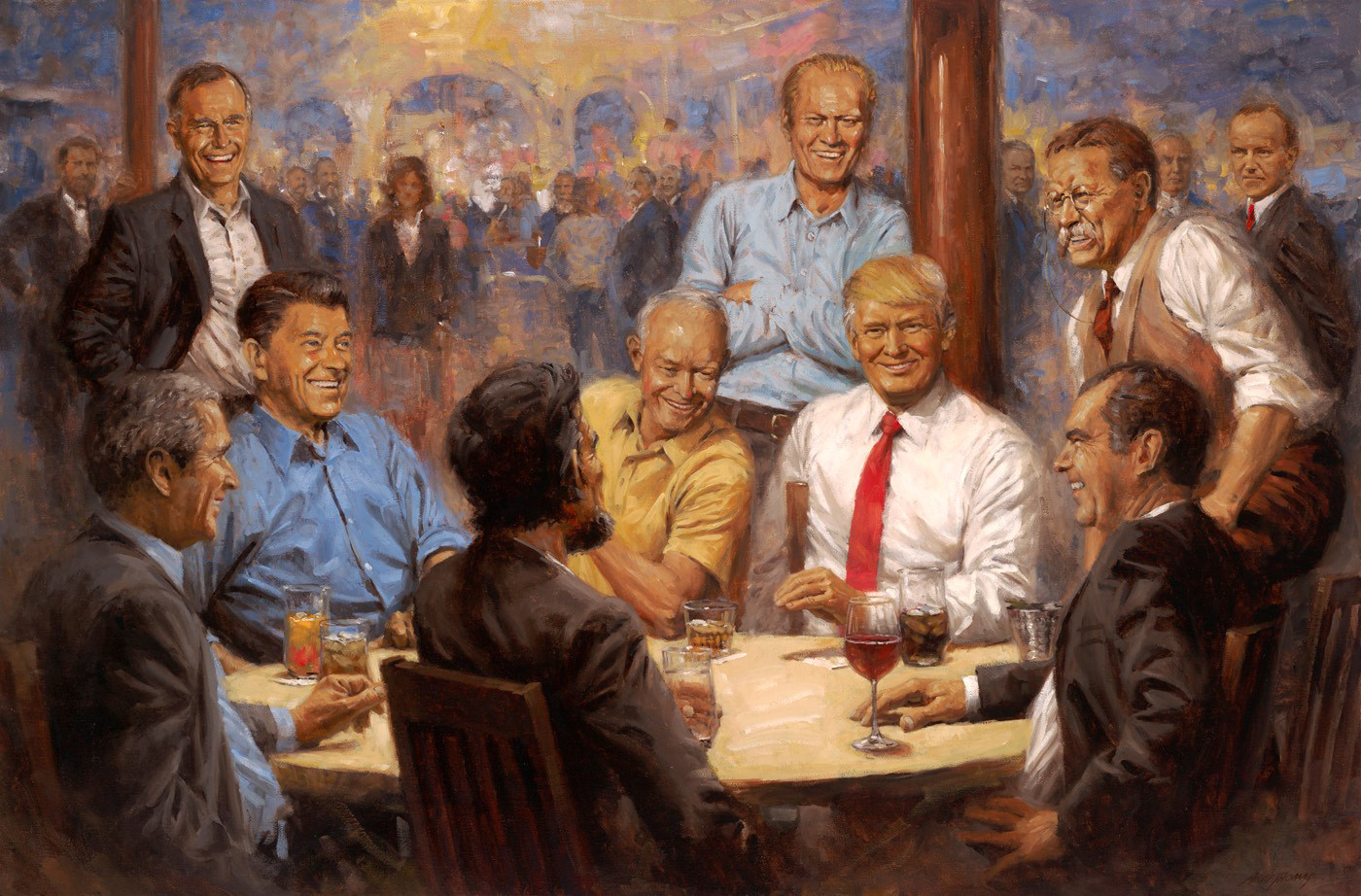 Artist surprised his fantasy painting of Trump is hanging in the White House
