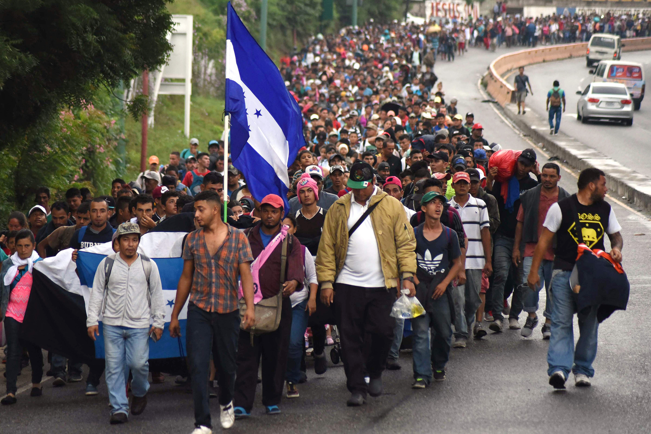 Image result for caravan of immigrants