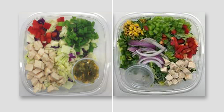 The USDA says makers of locally supplied, ready-made salads have recalled several batches because they may be contaminated with listeria or salmonella.