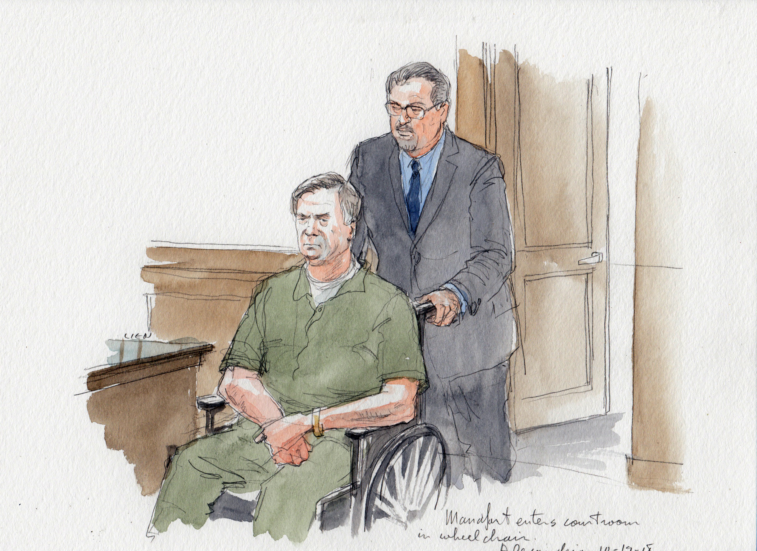 Image result for Manafort in wheelchair