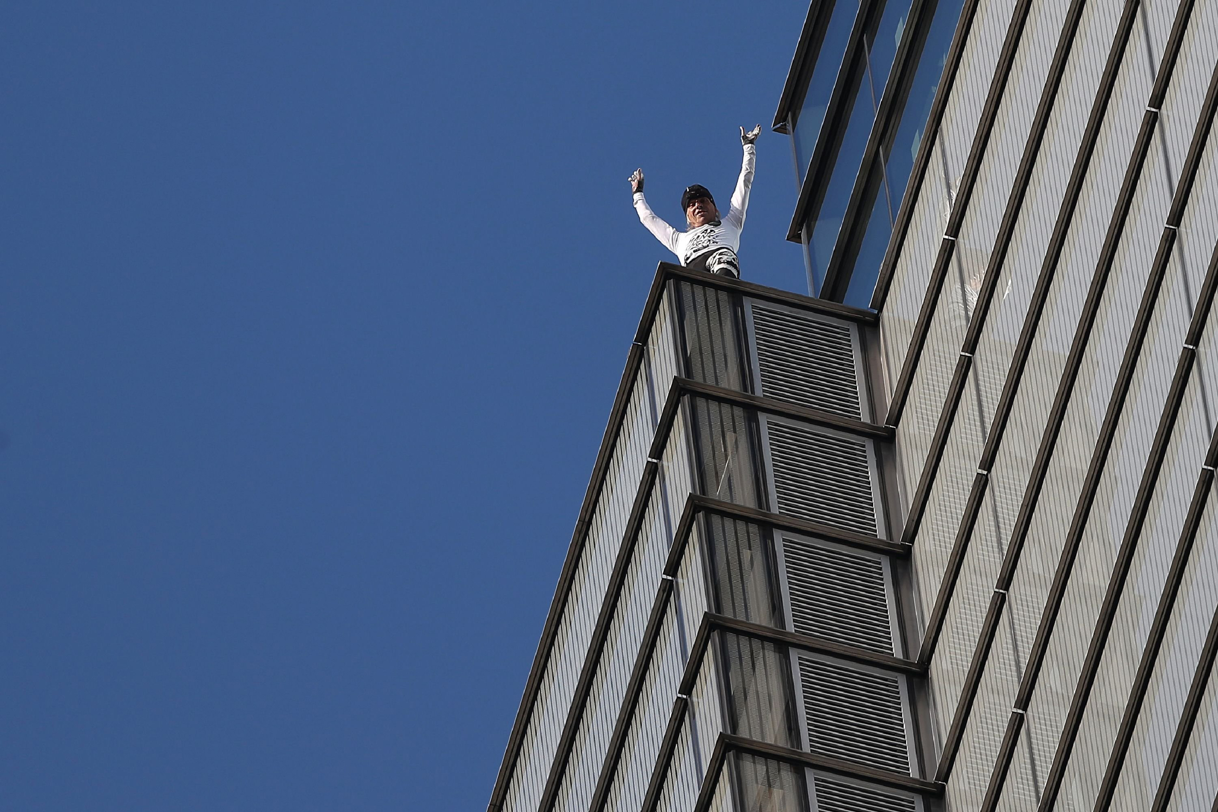 Human Spider Alain Robert Arrested After Climbing Heron Tower In London