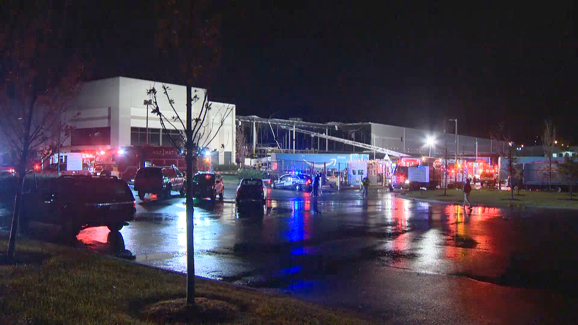 Two dead after wall collapse at Amazon distribution center