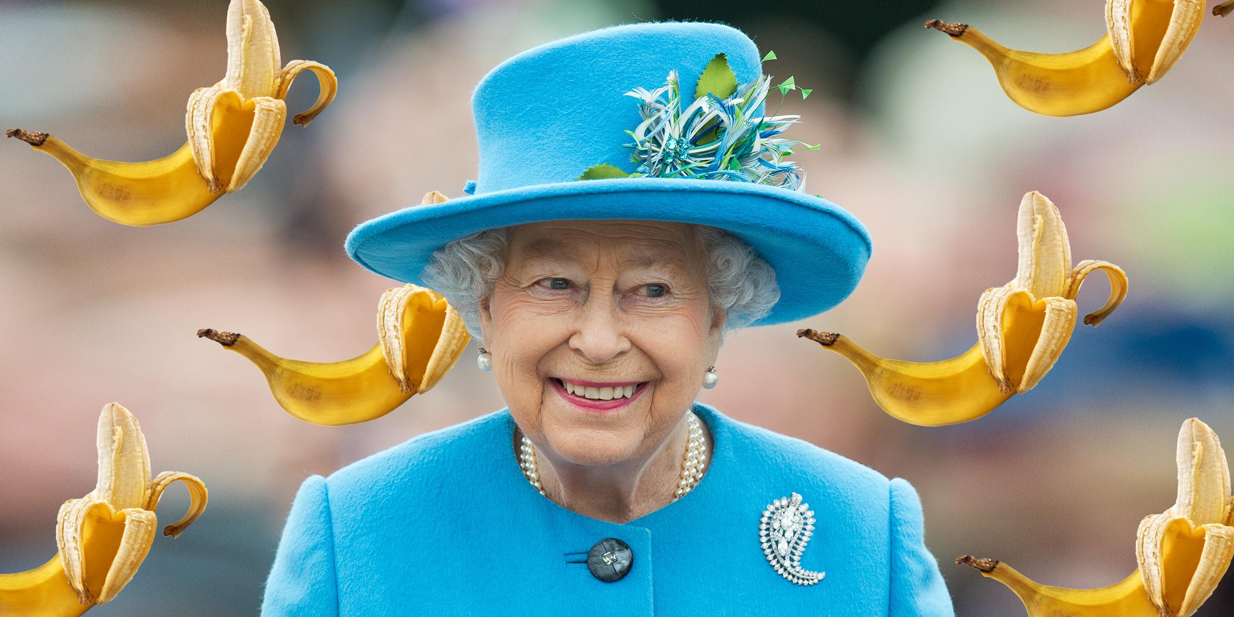 Image result for elizabeth II banana