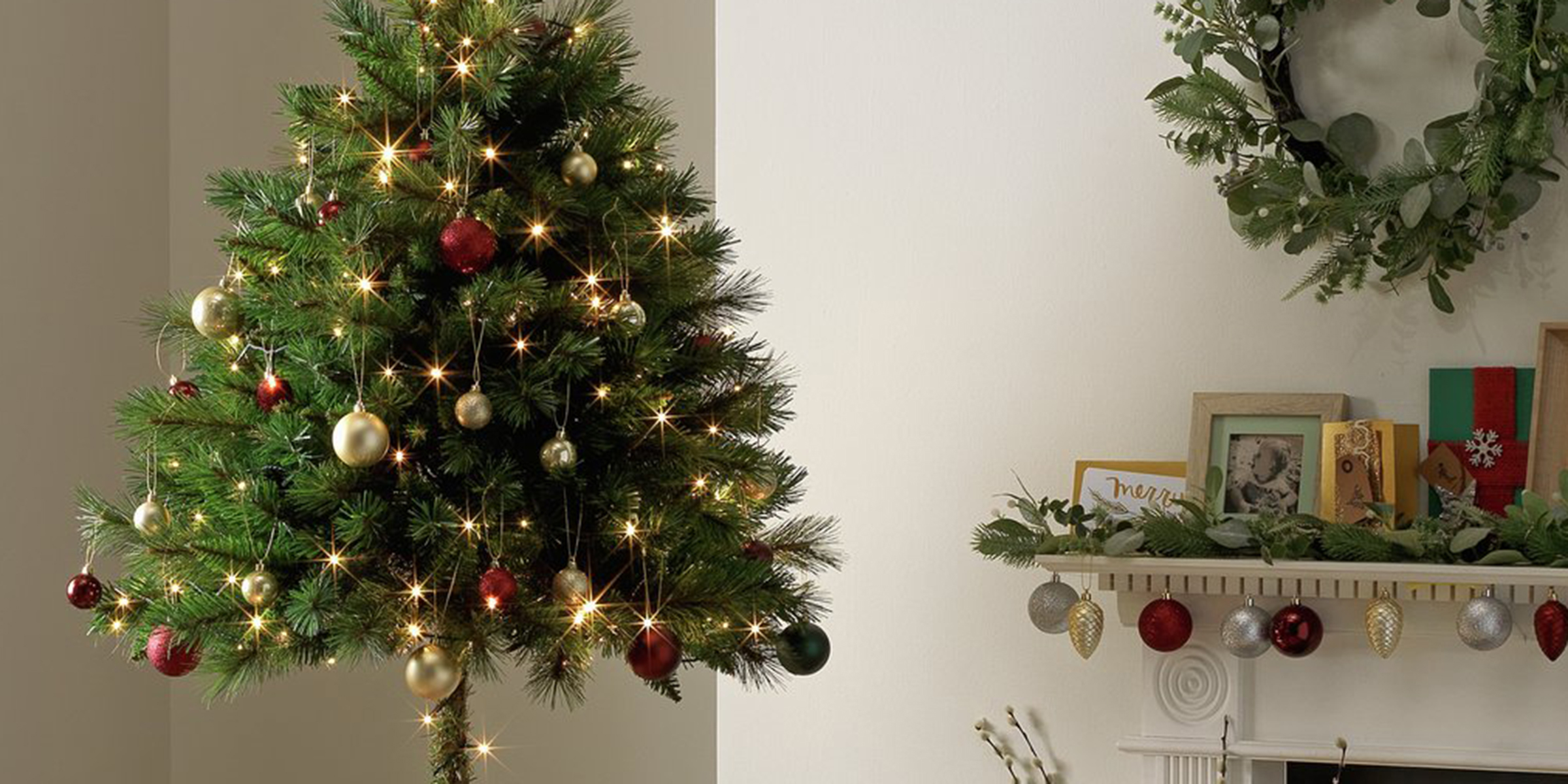 Argos created a \'half\' Christmas tree just for cat owners