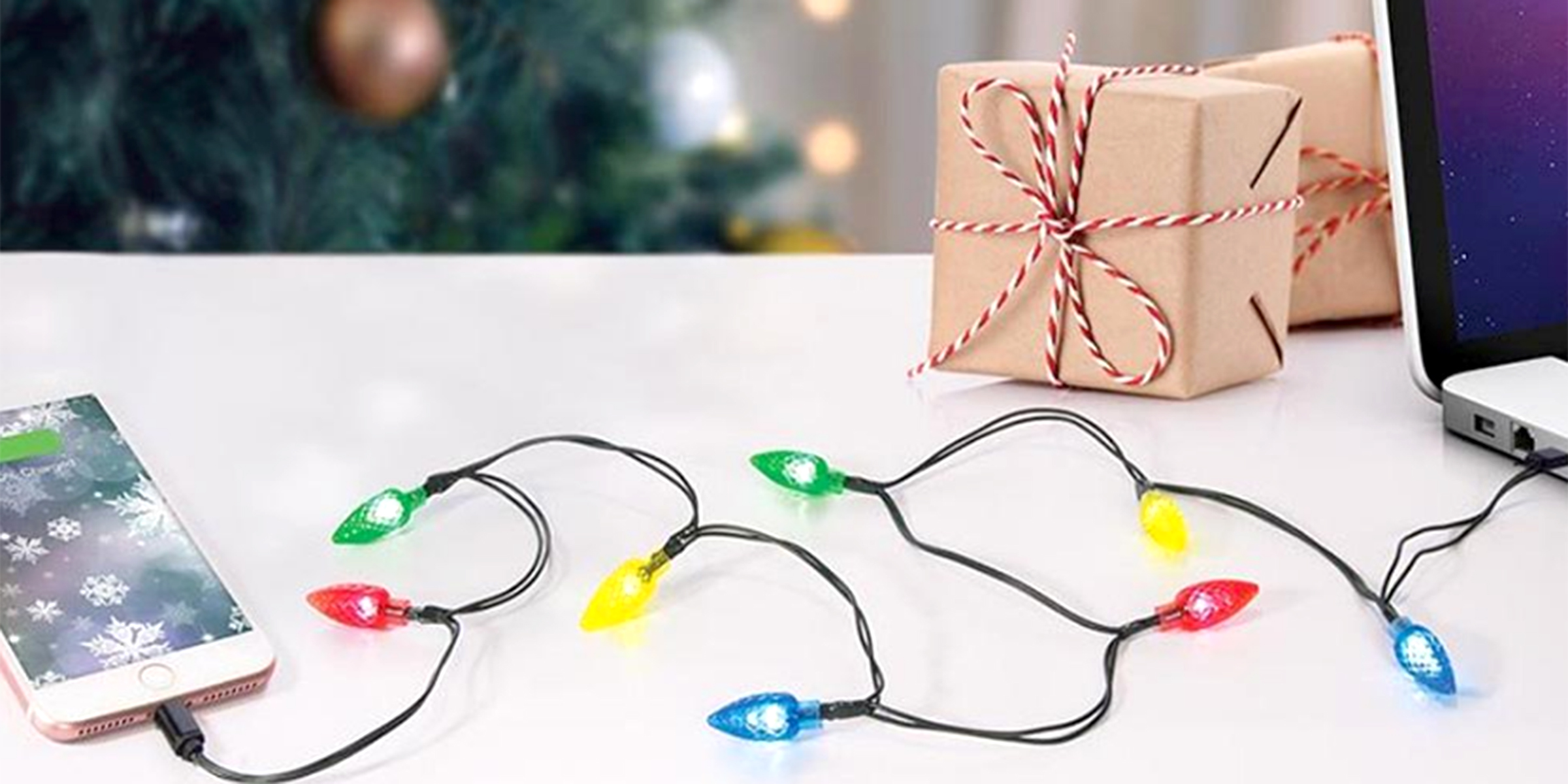 christmas light phone chargers are a thing and were into it