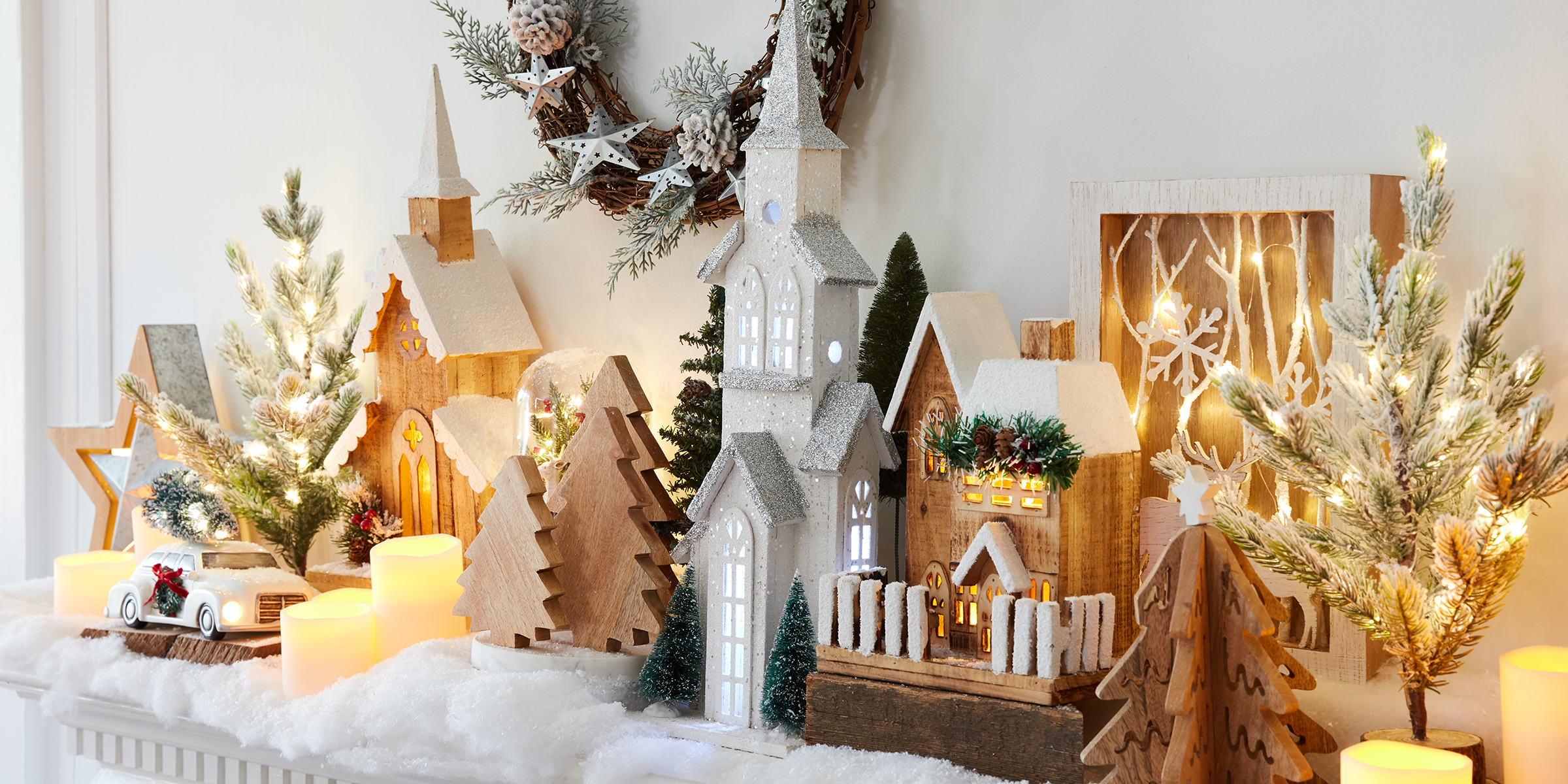 5 fireplace and mantel decoration ideas for Christmas