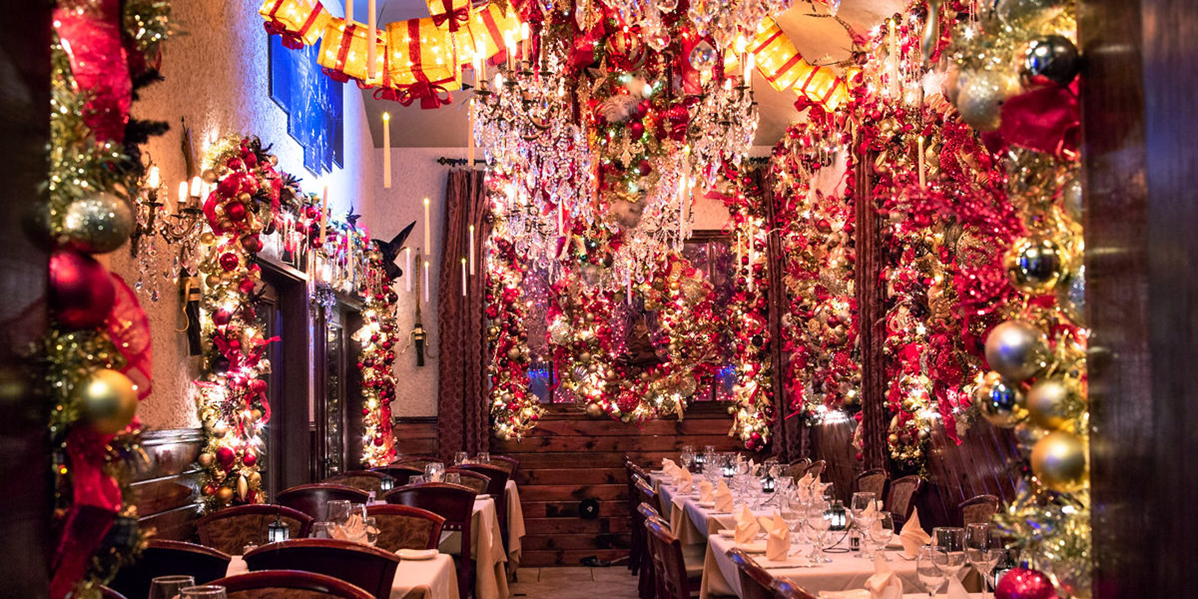 Cava Restaurant\'s holiday Christmas decorations are absolutely insane