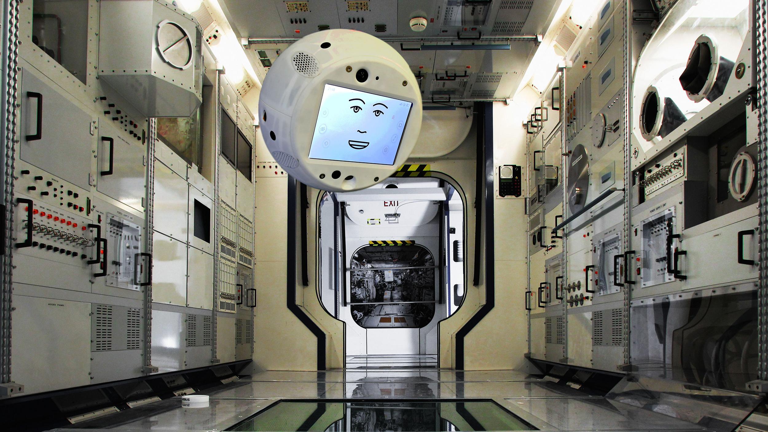 CIMON the European space robot cops an attitude in first test run