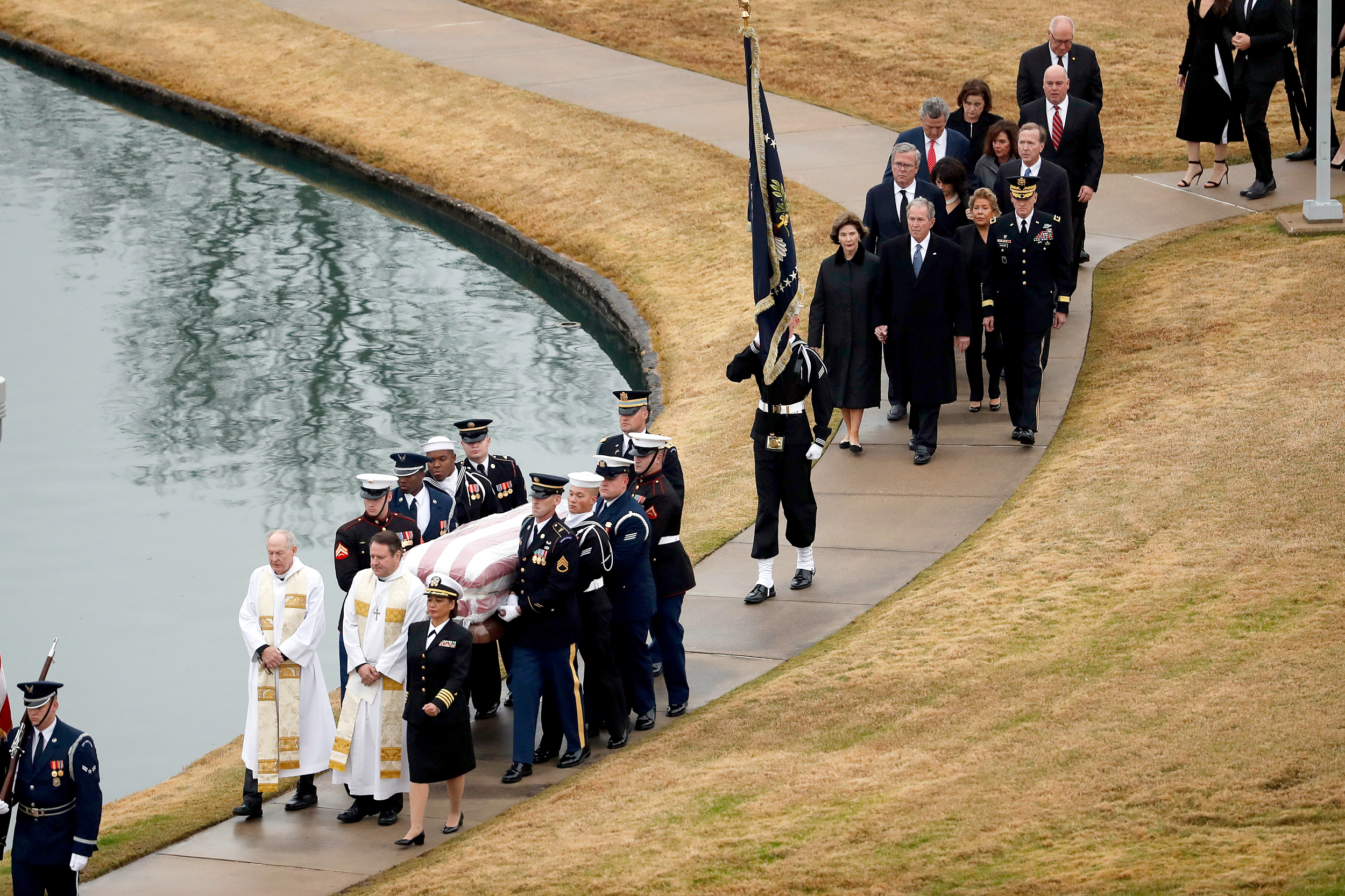 Courage Of A Warrior George H W Bush Laid To Rest In Texas After