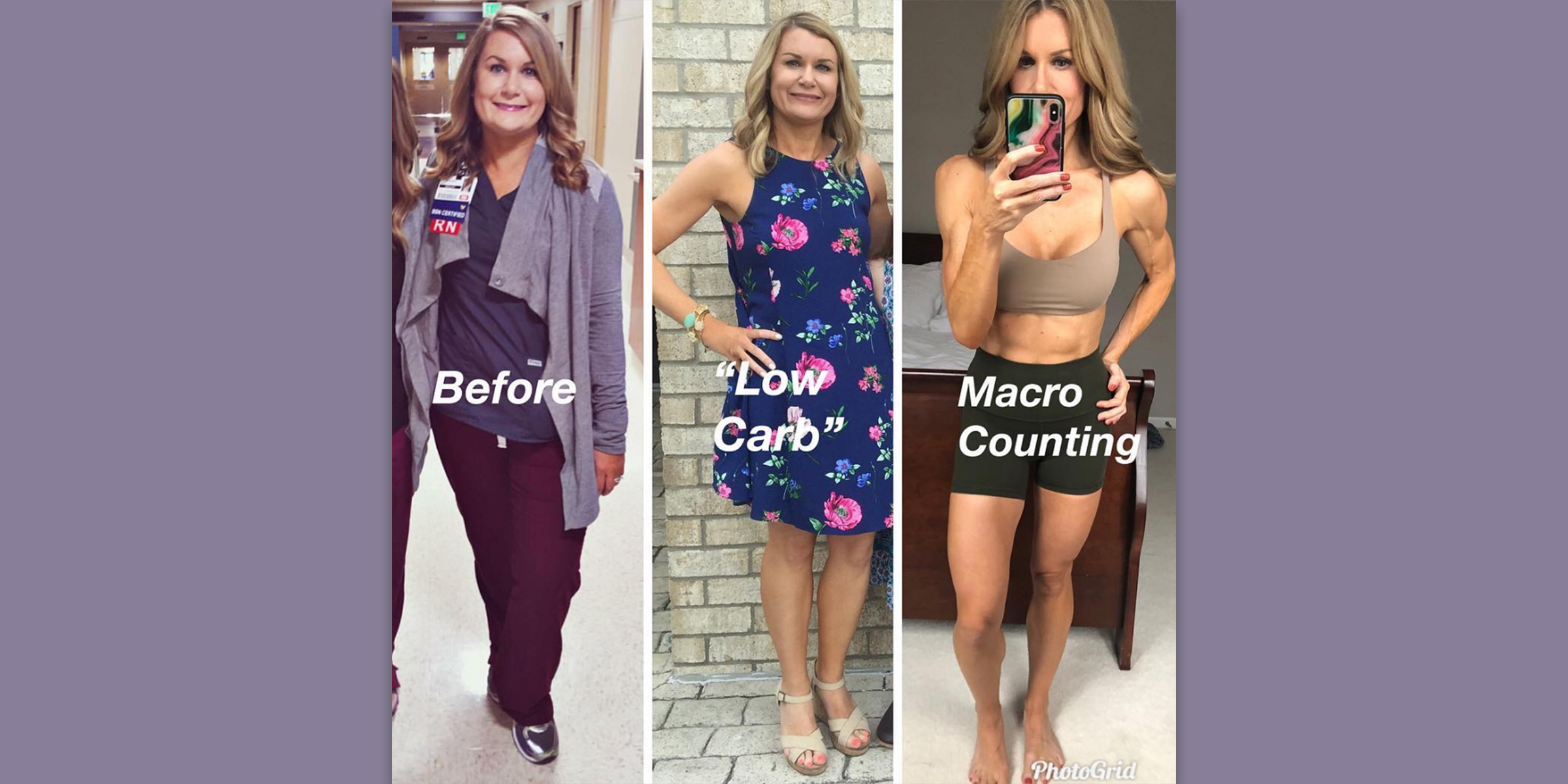 Macronutrient diet before and after