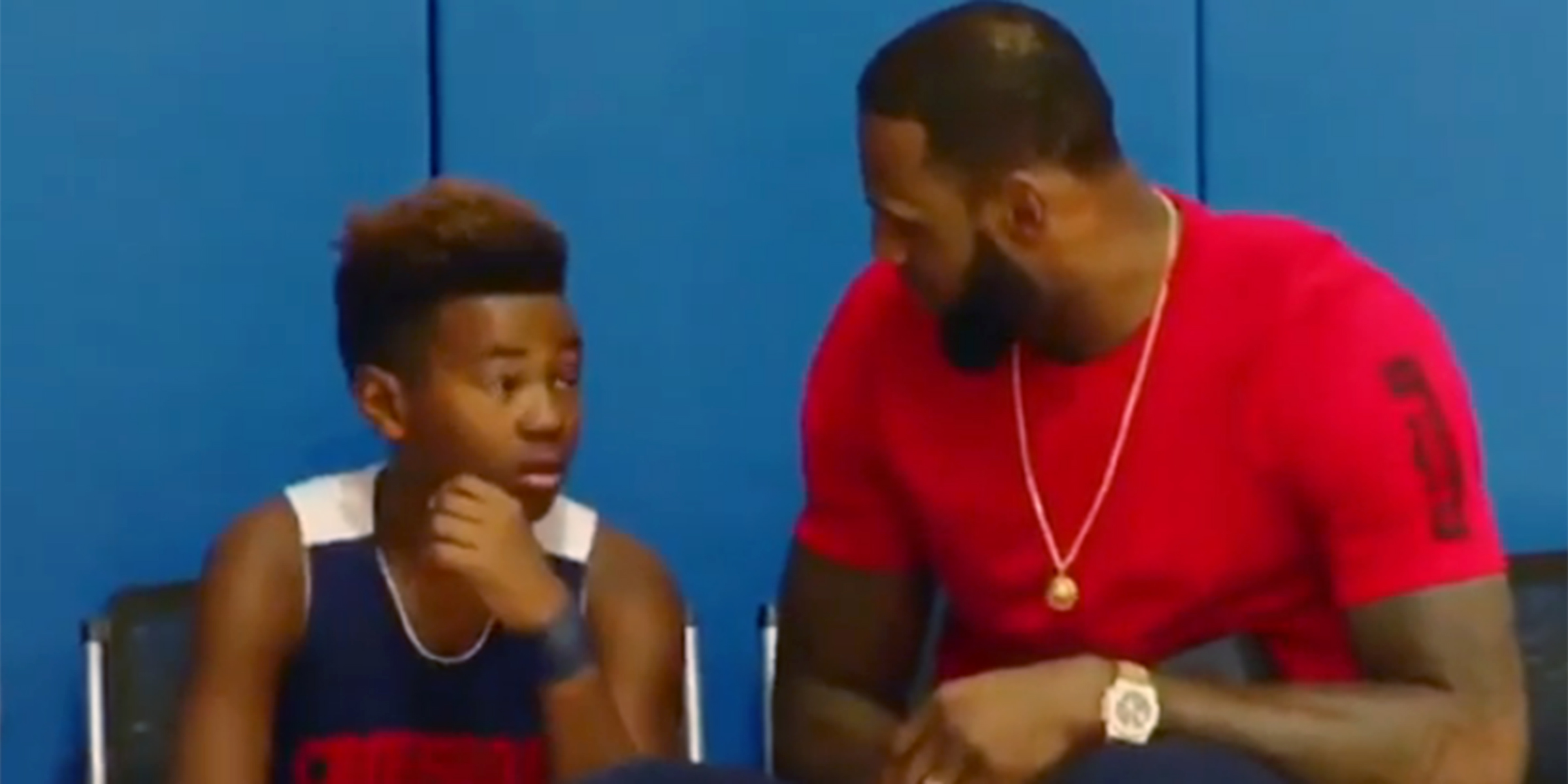 defa6f97137b LeBron James gave his son a pep talk after a youth basketball game