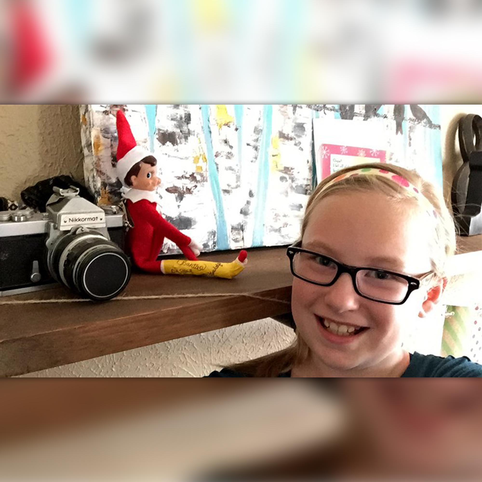 Elf On The Shelf With A Broken Leg Helps Mom Win Christmas