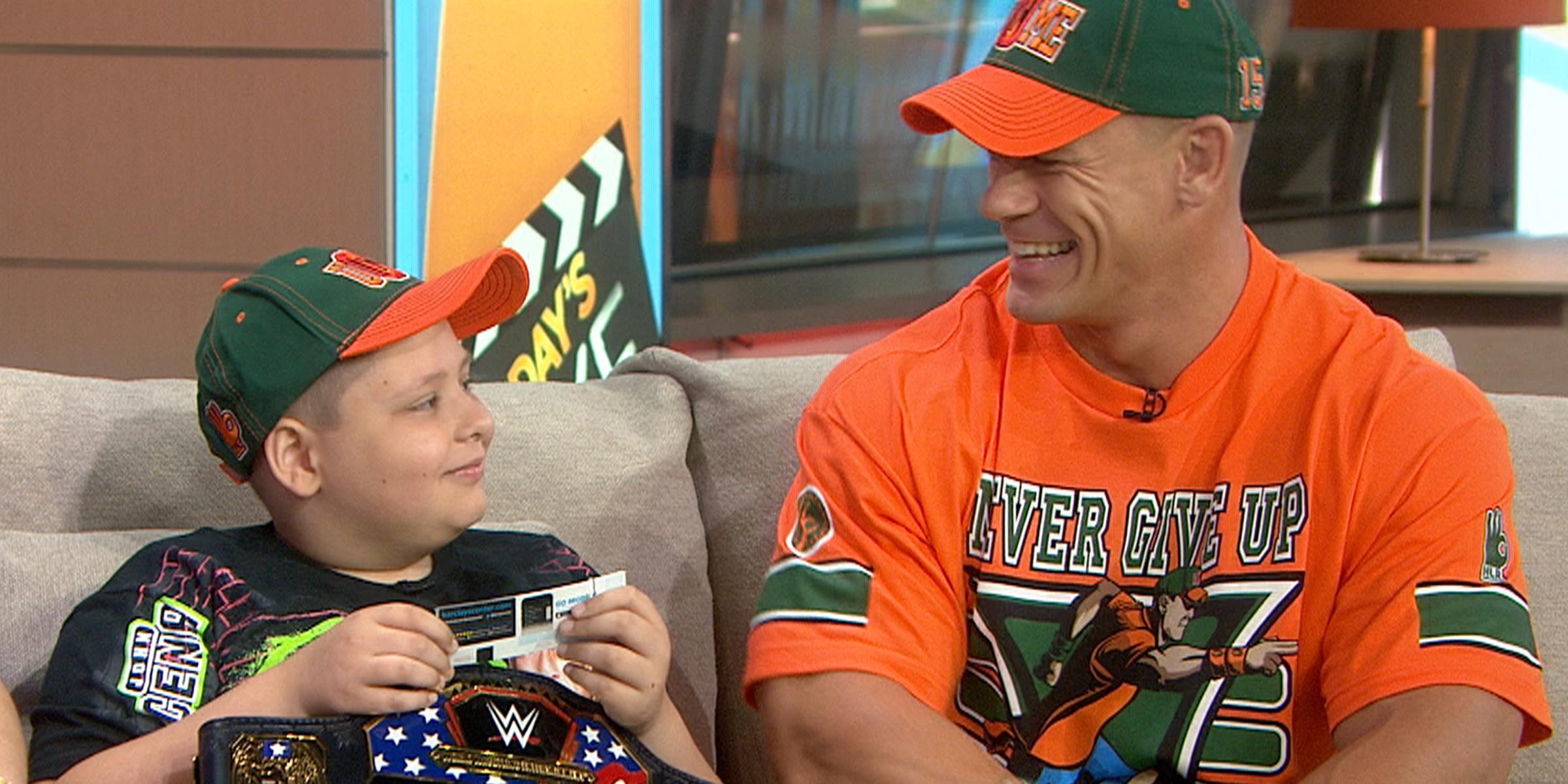John Cena has fulfilled dreams for 580 Make-A-Wish kids