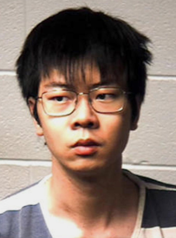 Image: Yukai Yang is accused of trying to poison his roommate to death and vandalizing the victim's possessions with racist graffiti.