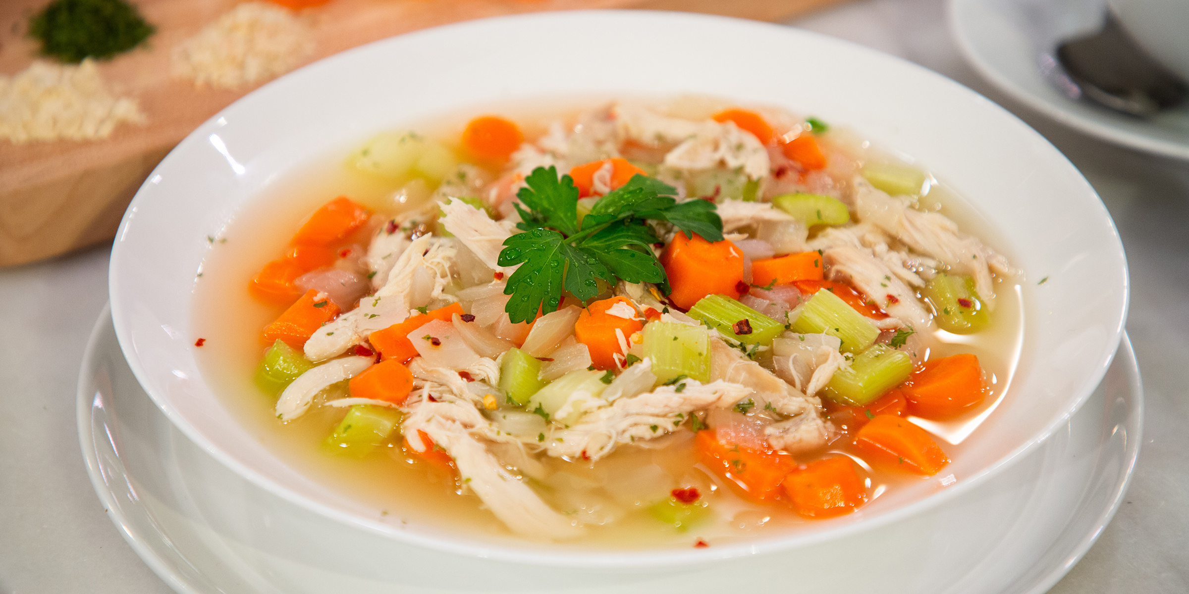 healthy 1 minute chicken soup today com