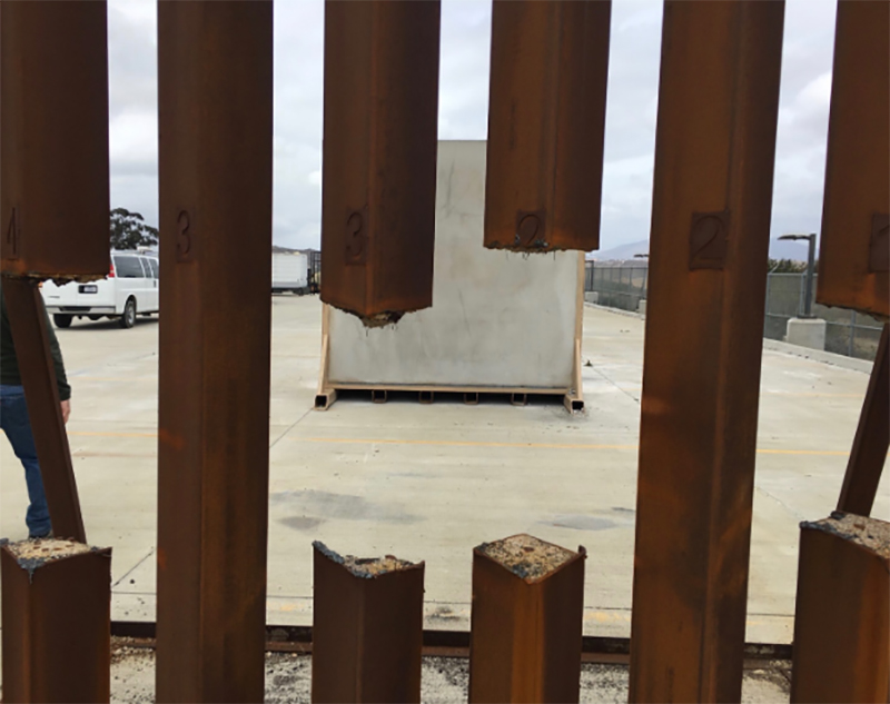 Test of steel prototype for border wall showed it could be sawed through