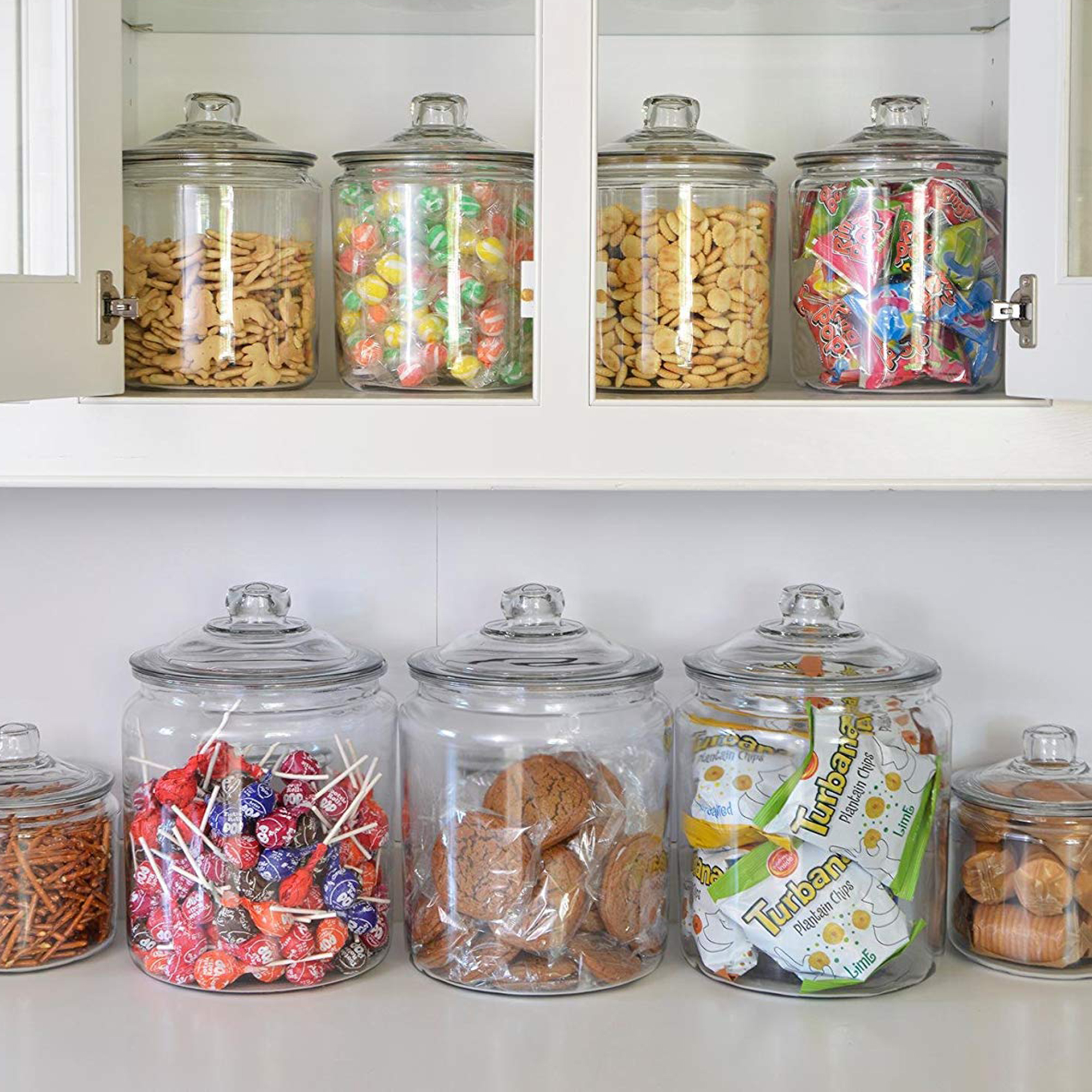 856408e9aac Glass jars can help with kitchen and pantry organization