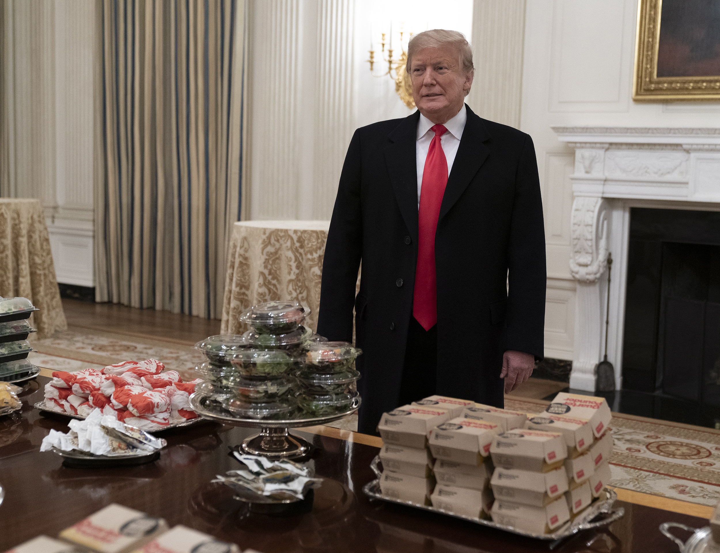 Trump Welcomes Clemson Tigers To The White House With American Fast Food Paid For By Me