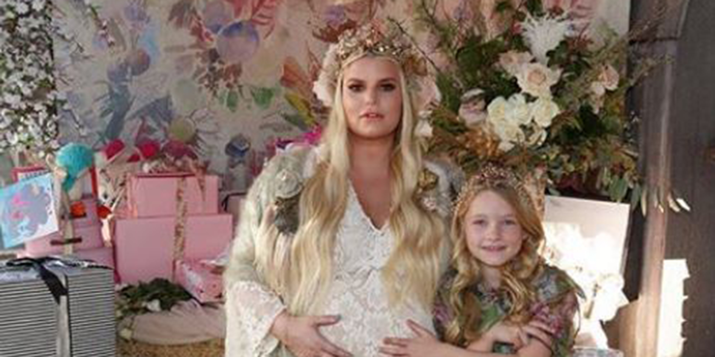 Jessica Simpson Shares Birdie S Nest Baby Shower Pics And Maybe