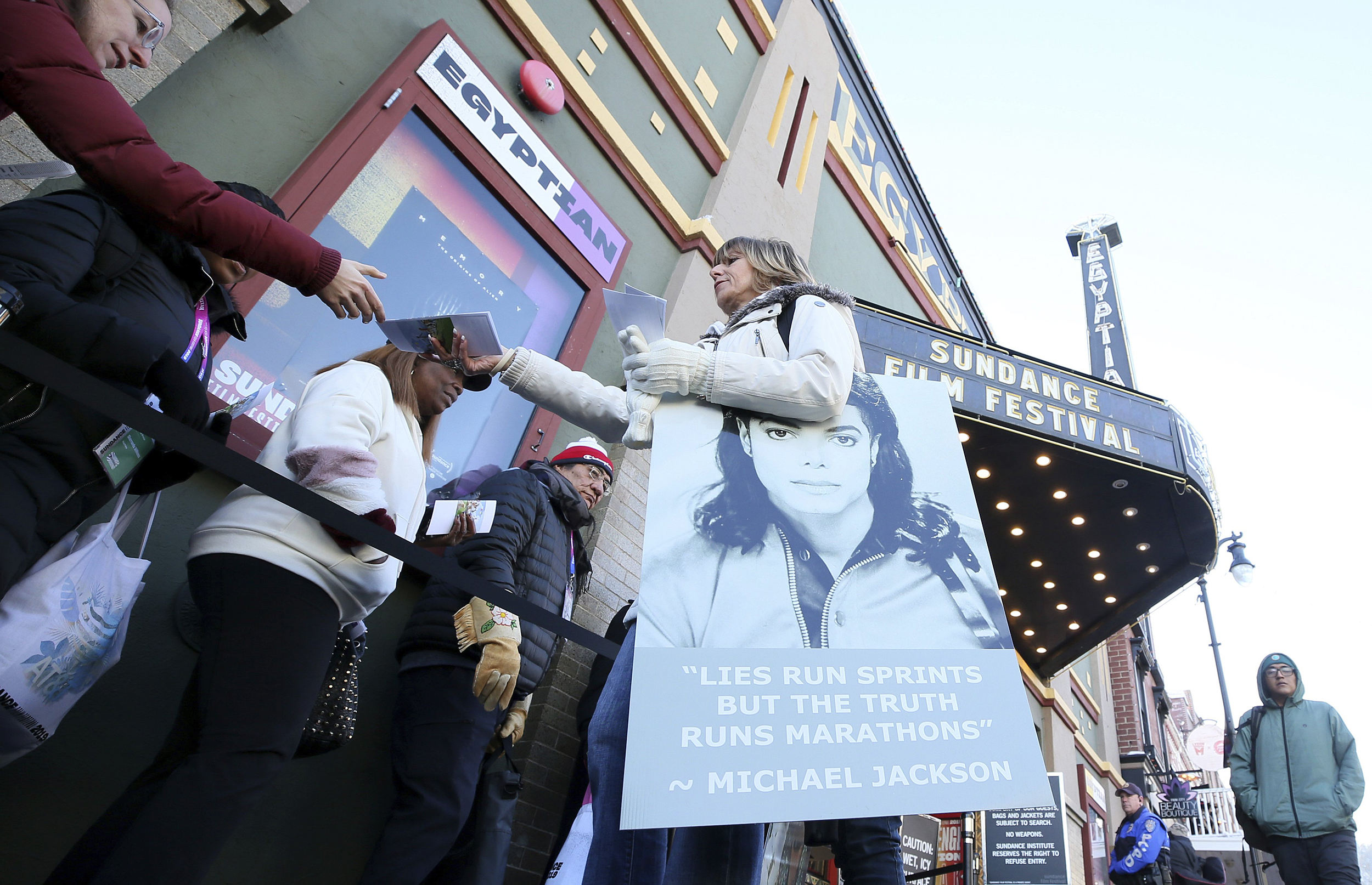 ee63c820cb39 Michael Jackson accusers get solemn ovation at Sundance festival