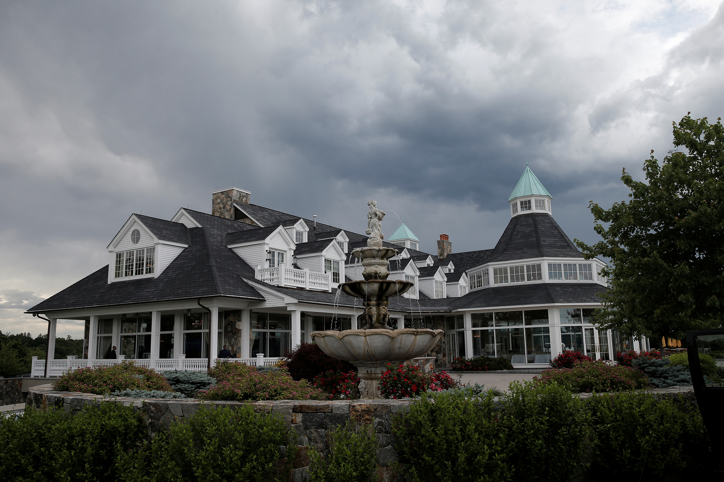 The clubhouse at the Trump National Golf Club Westchester in Briarcliff Manor, New York