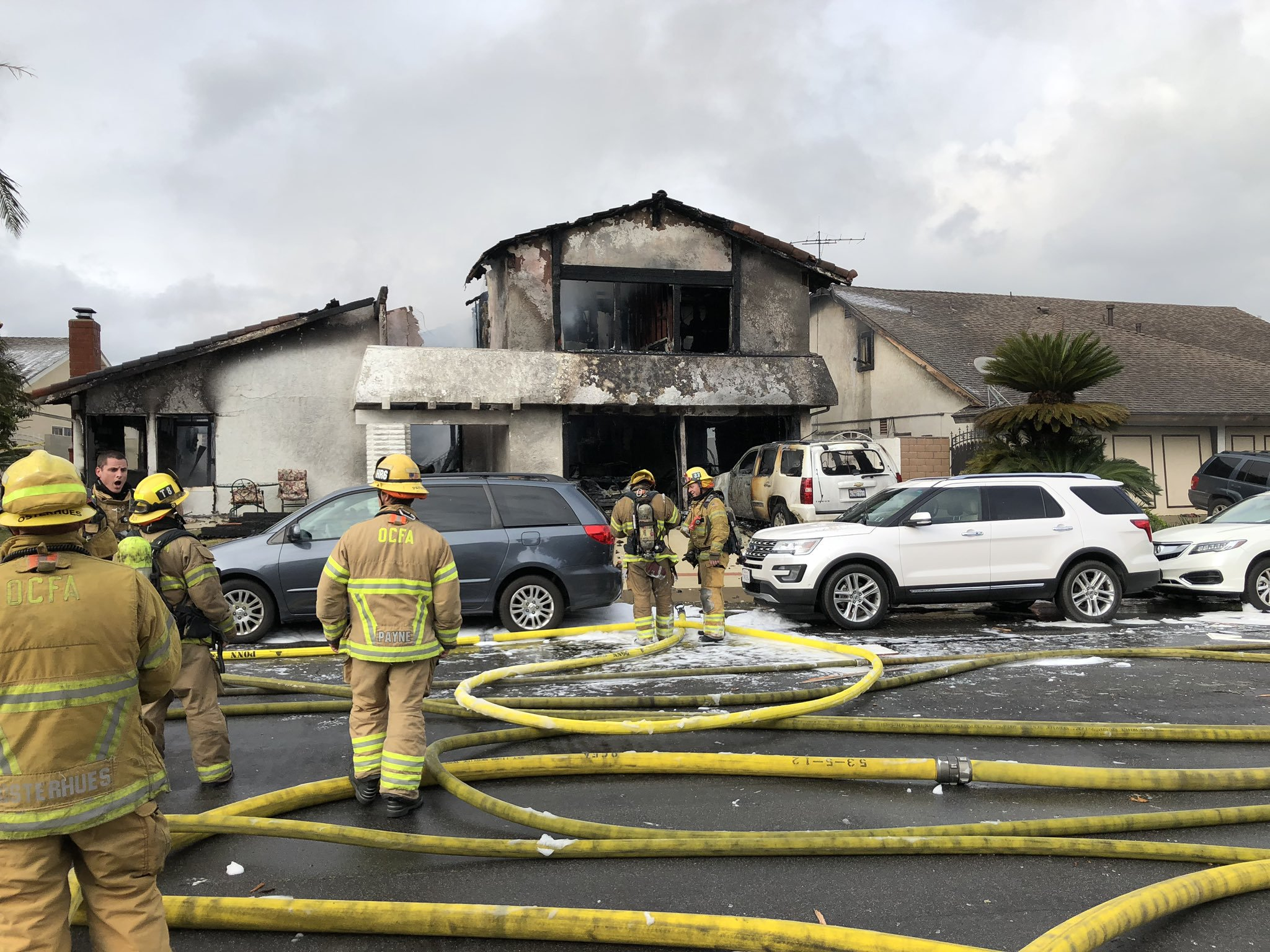 Five dead, two hospitalized after plane crashes into home in