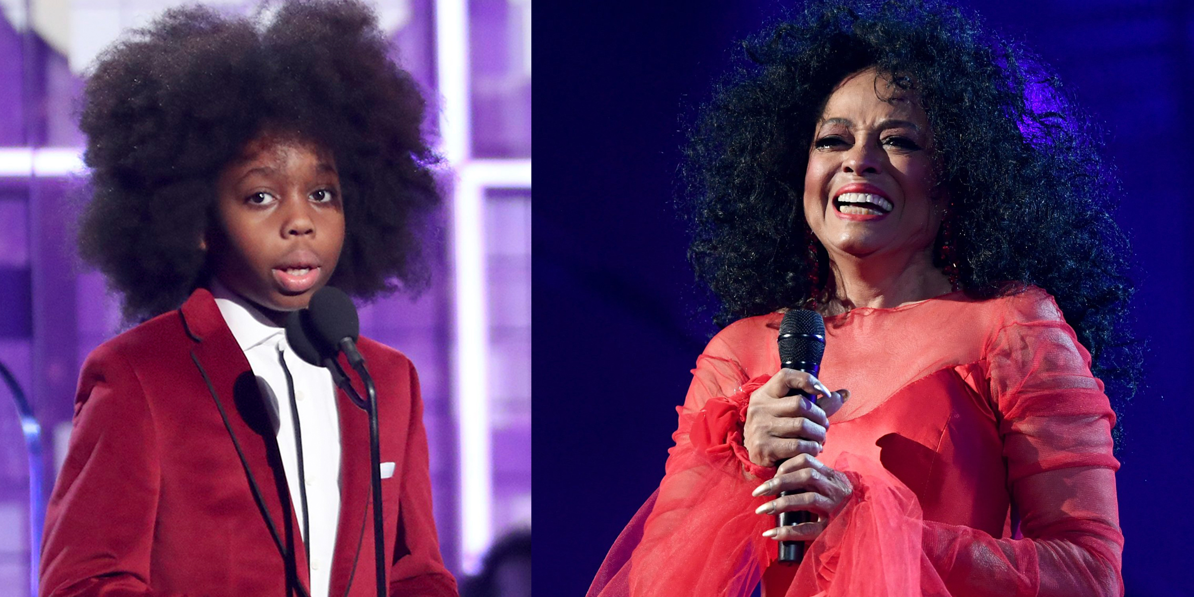 Diana Ross Adorable Grandson Steals The Show At The Grammy Awards
