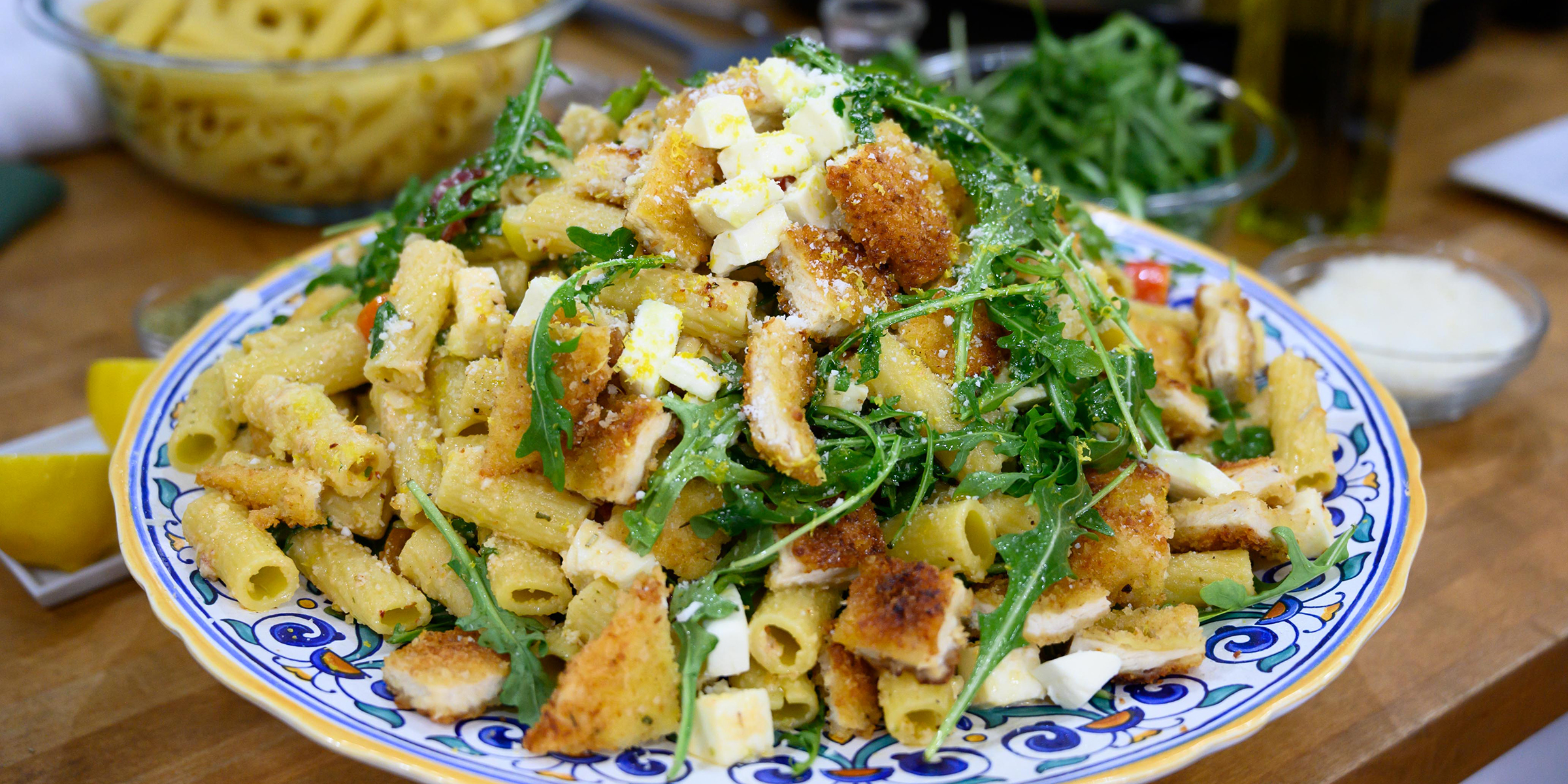 Rigatoni With Chicken Milanese Today Com