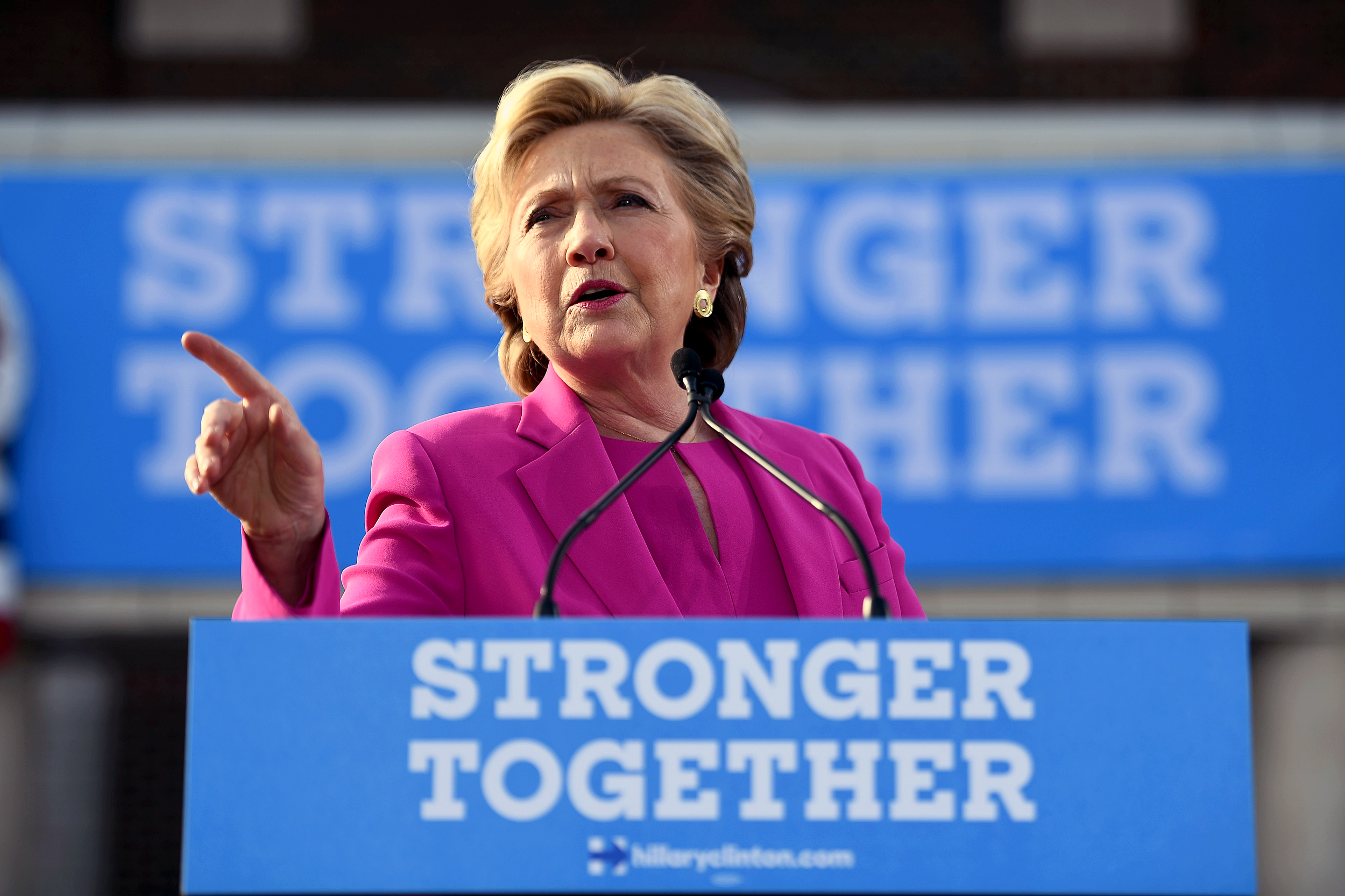 Hillary Clinton zings Trump, GOP for ripping off her 2016 campaign slogan