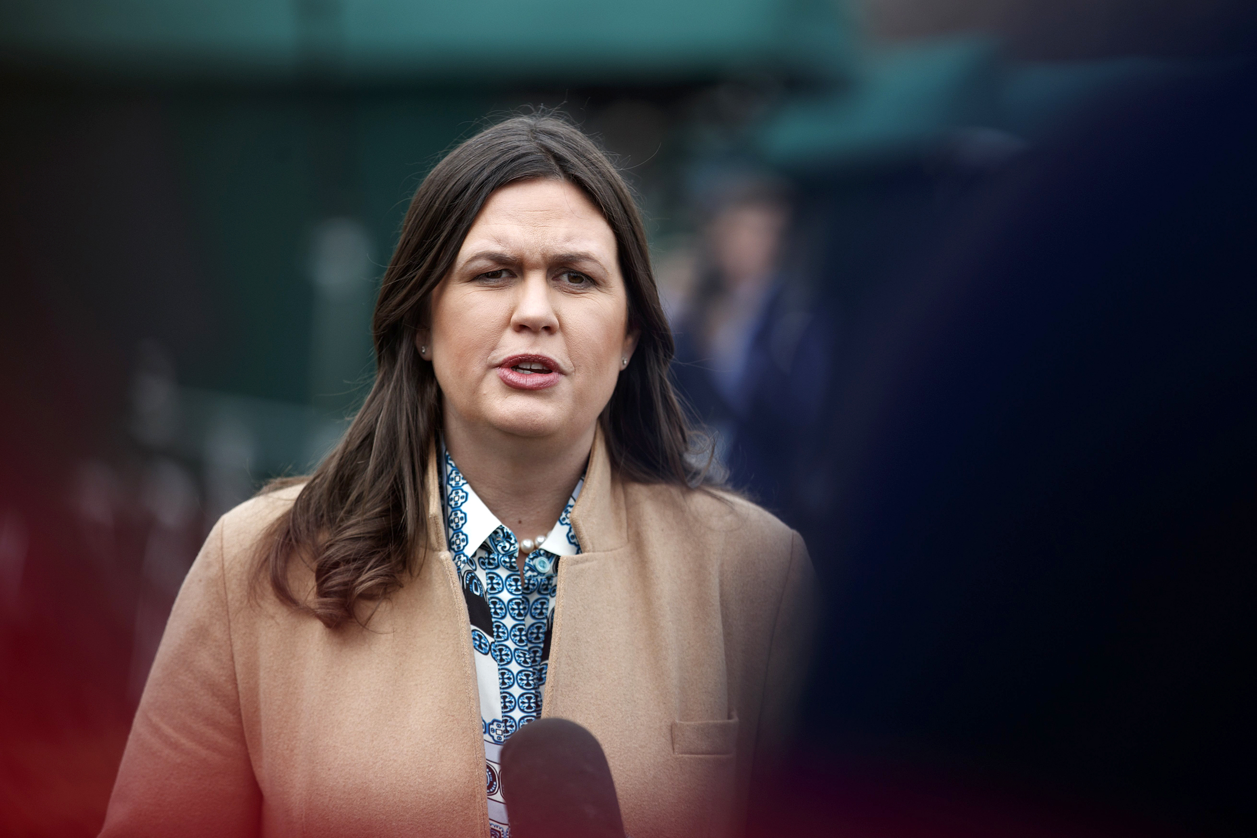 Sarah Sanders: No need for Trump to tone down rhetoric following Hasson arrest