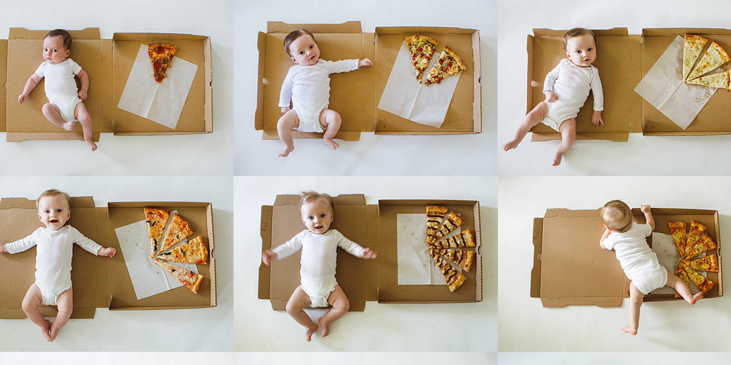 Cheesy photos of 1 year old babys monthly milestones will melt your heart